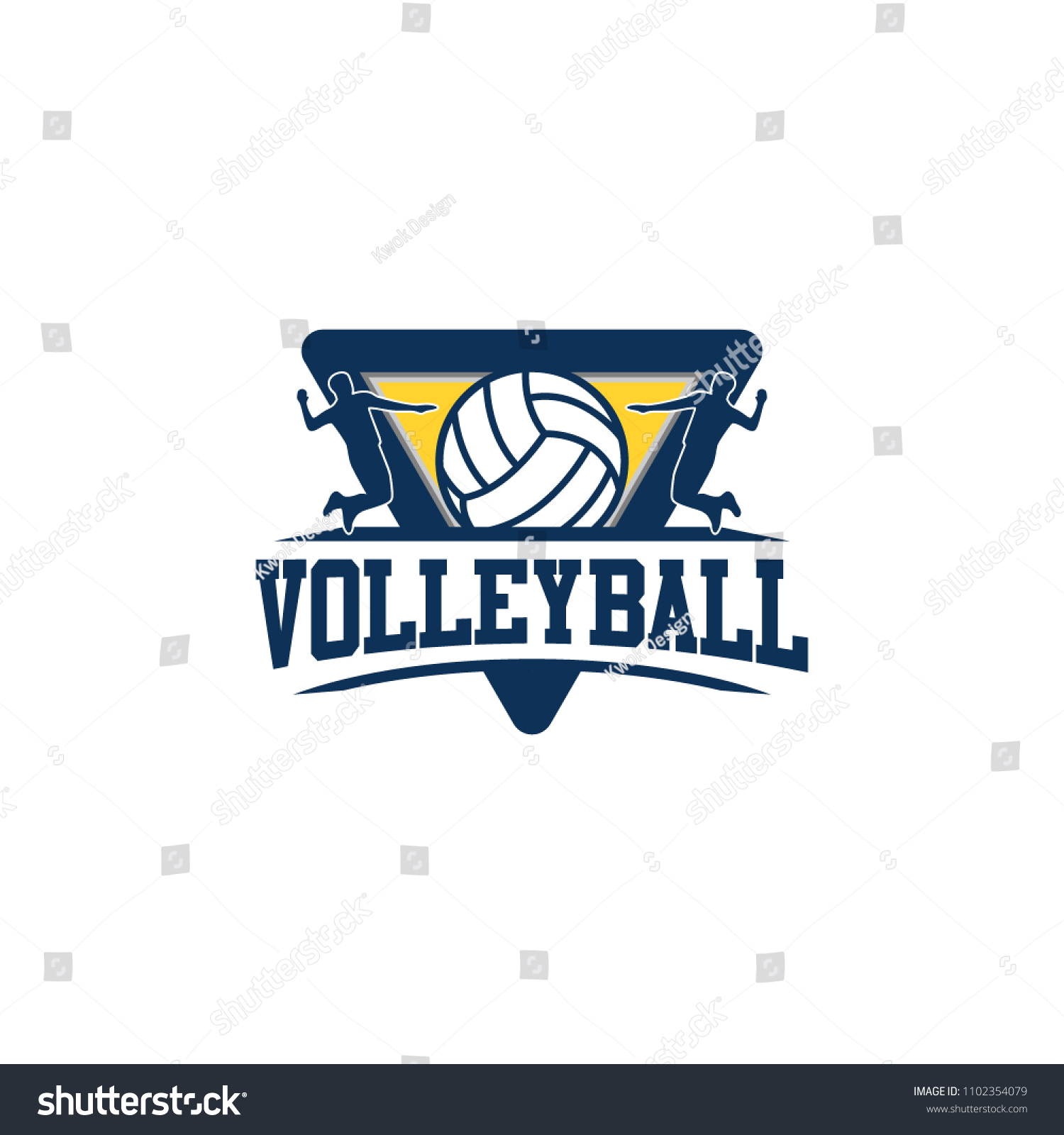 volleyball badge design logo emblem sport stock vector royalty free