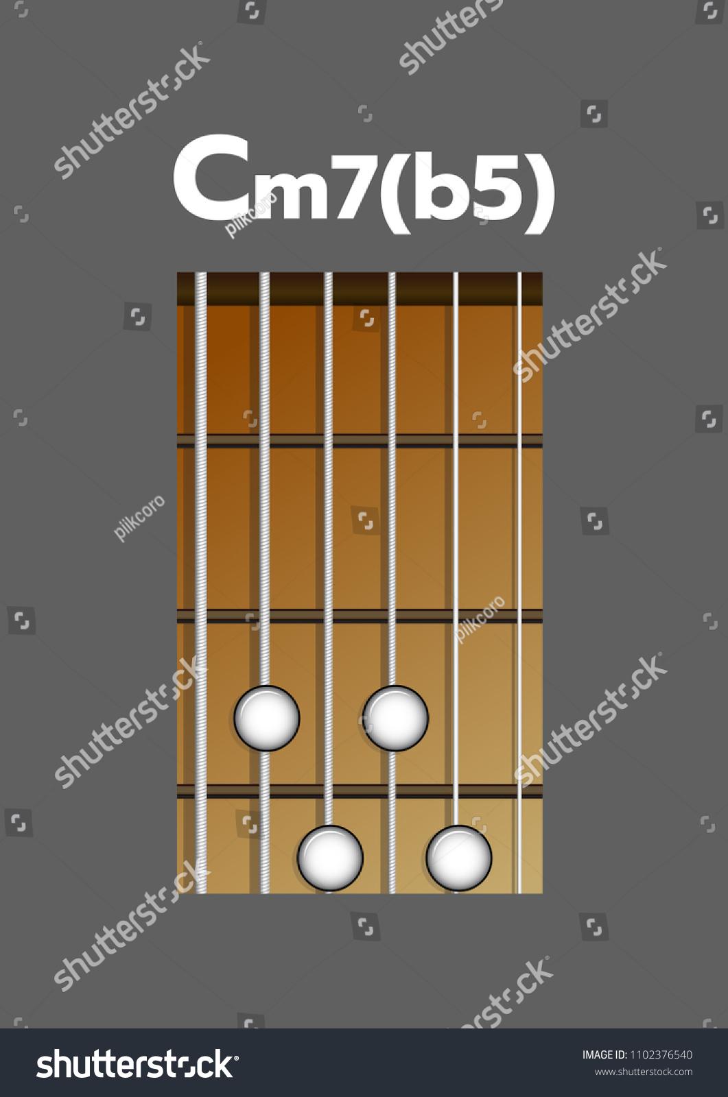 Chord Diagram Tab Tabulation Finger Chart Stock Vector Royalty Free Electric Guitar Basic Chords Cm7