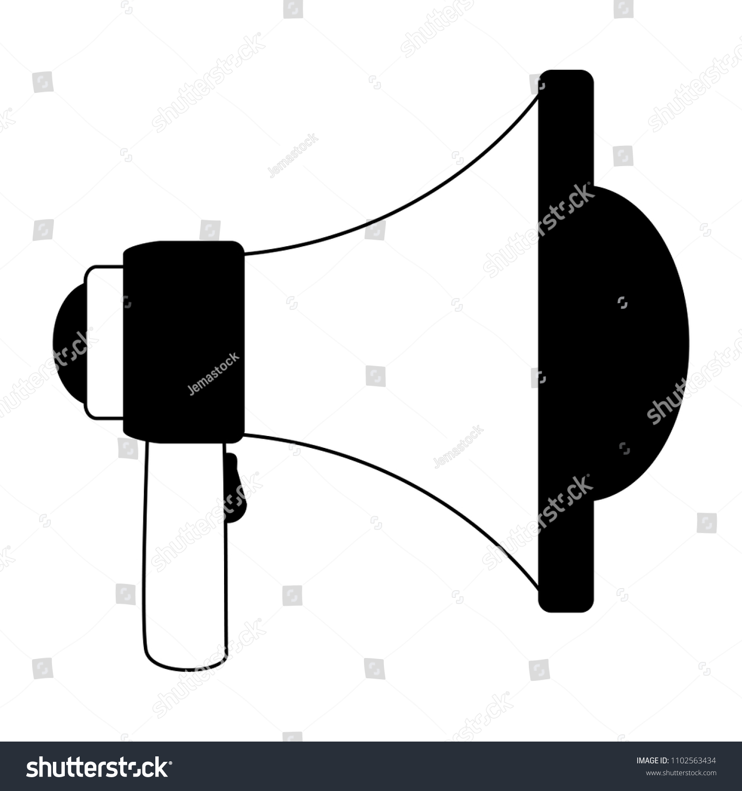 Peachy Bullhorn Advertising Symbol Black White Stock Vector Royalty Free Wiring Digital Resources Aeocykbiperorg