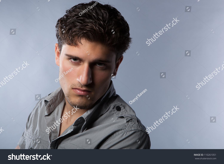 Cute Guy With Dark Brown Hair