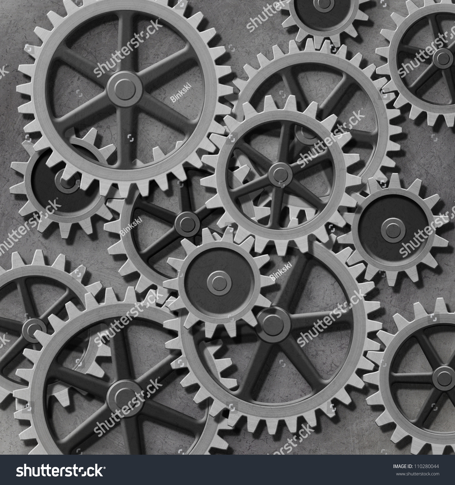 Mechanical Background Gears Cogs Stock Illustration ...