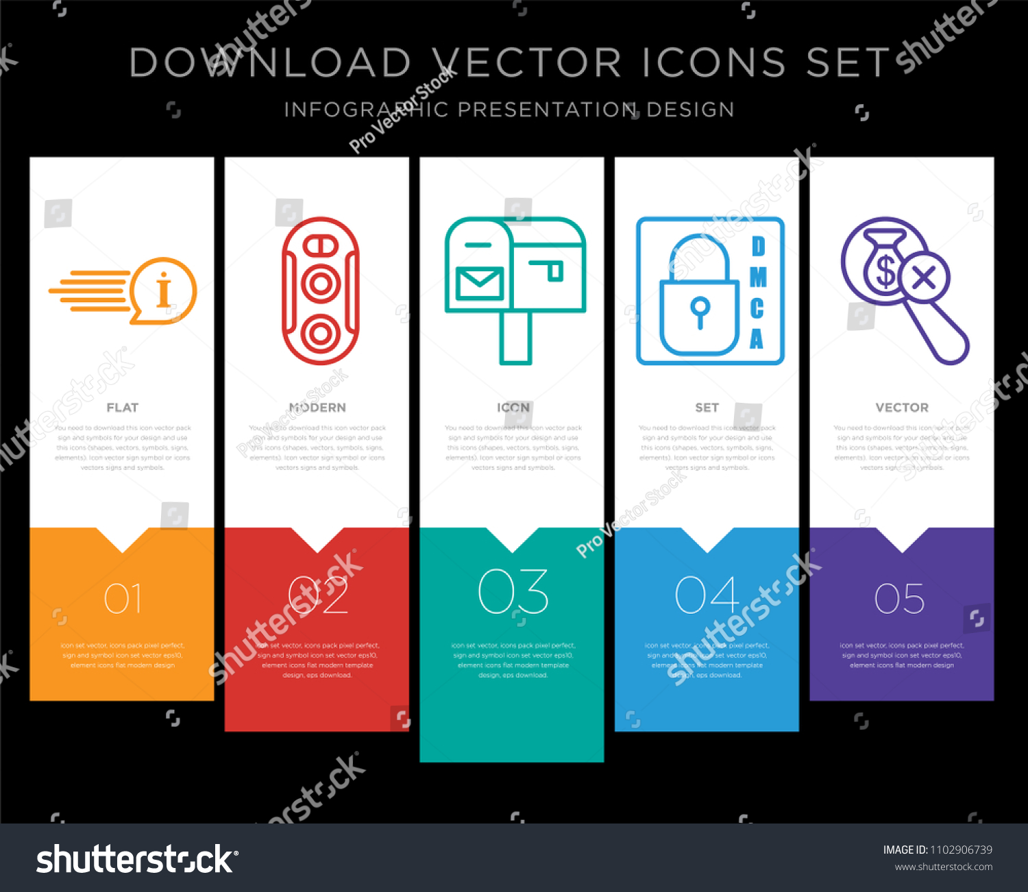 5 Vector Icons Such Quick Facts Stock Vector HD (Royalty Free ...