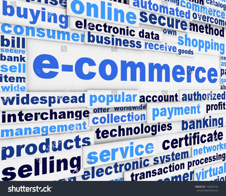 Ecommerce Poster Design Online Shopping Message Stock Illustration 110293154