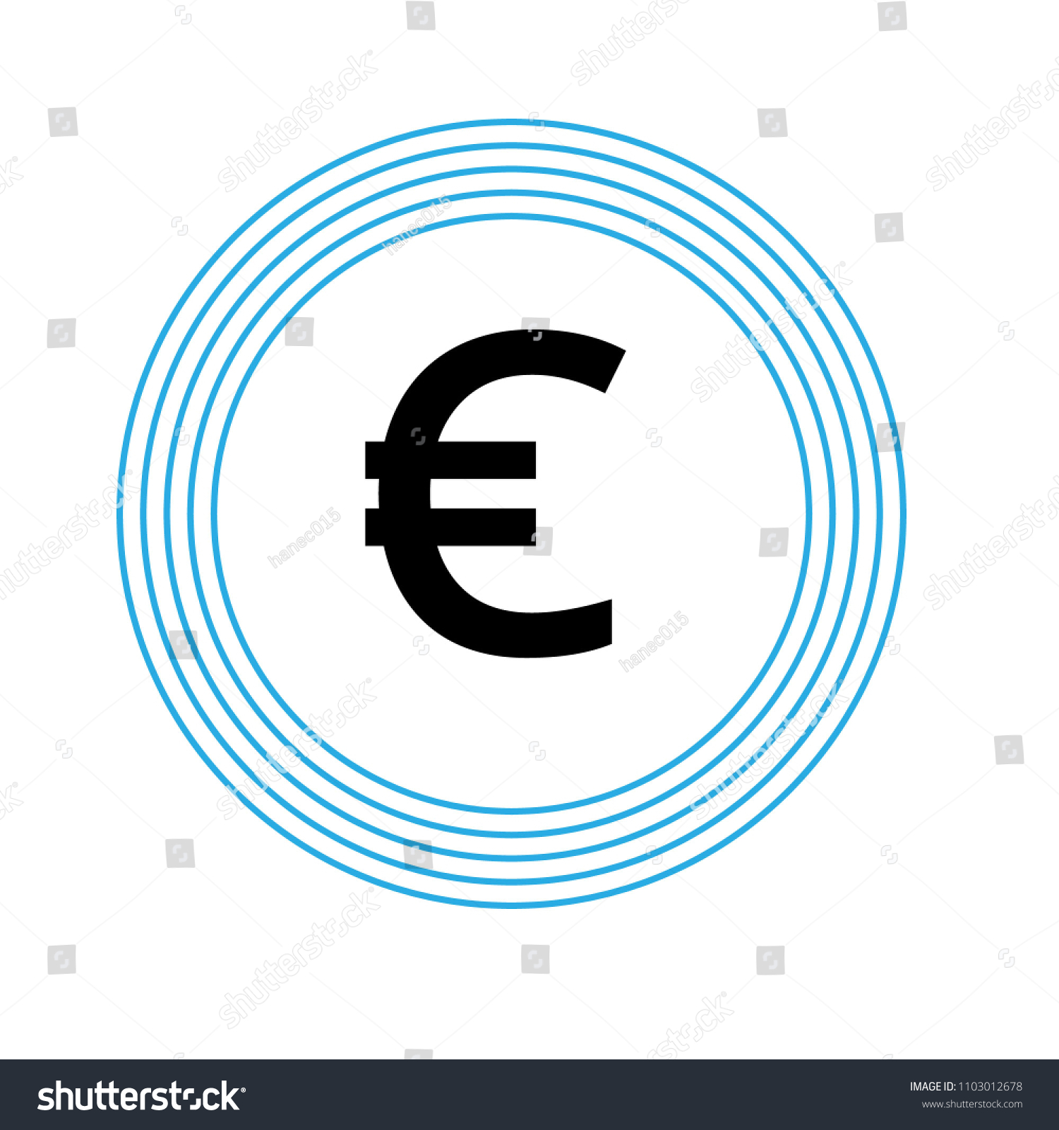 Euro Icon Euro Symbol Your Bank Exchange Stock Vector Royalty Free