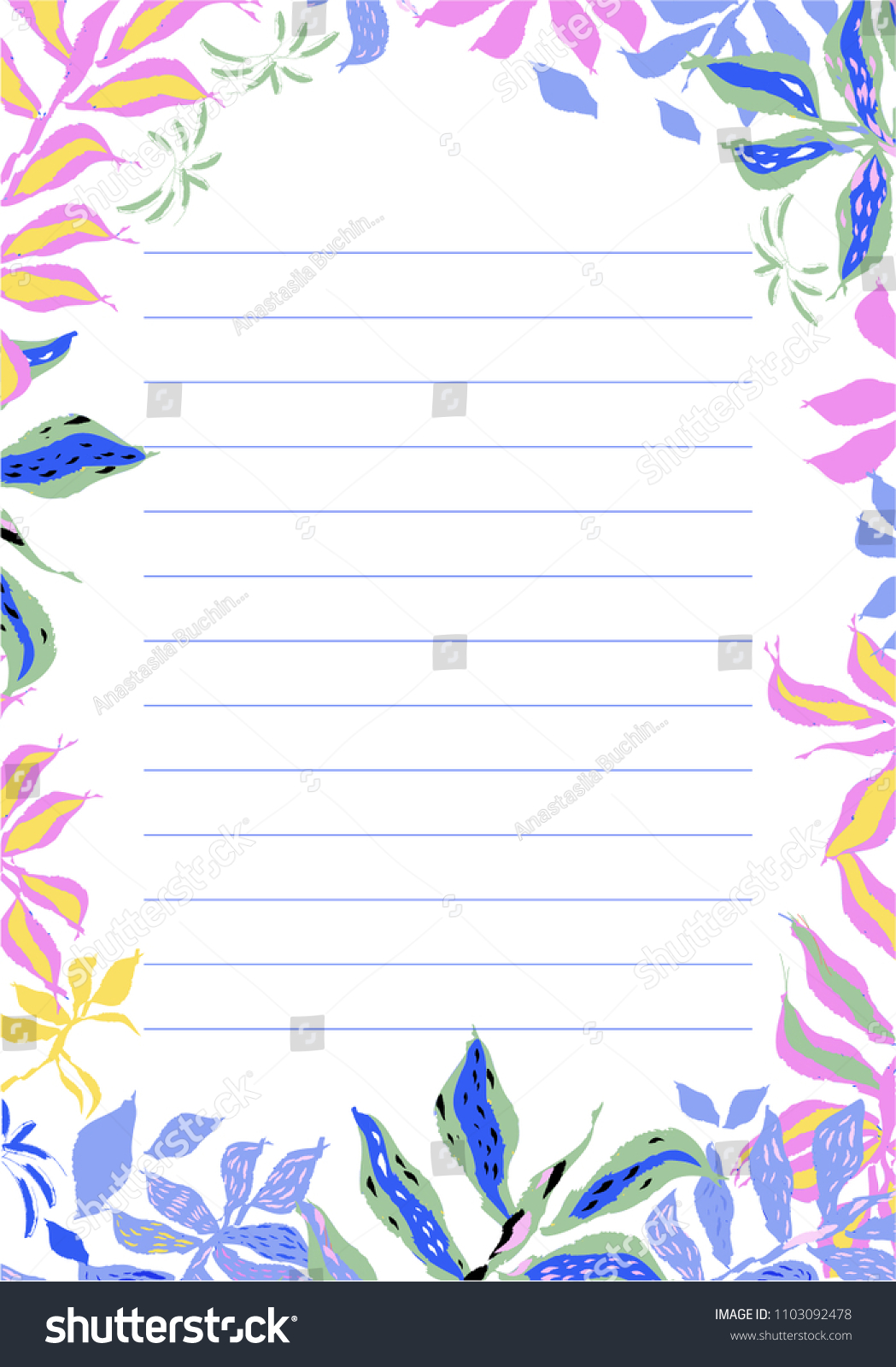 blank design cute floral vector card stock vector royalty free