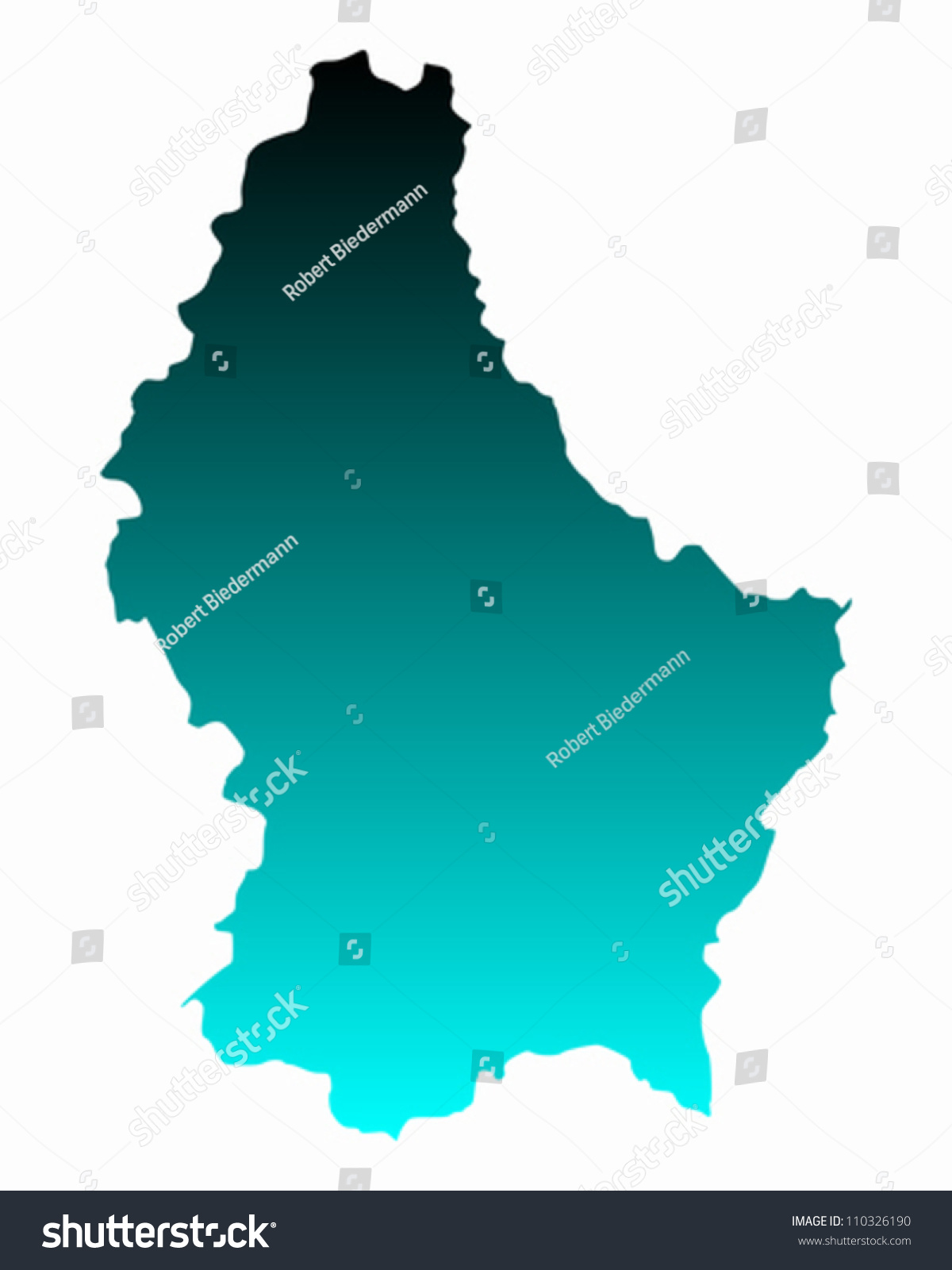 Map Luxembourg Stock Vector Shutterstock - Luxembourg map vector