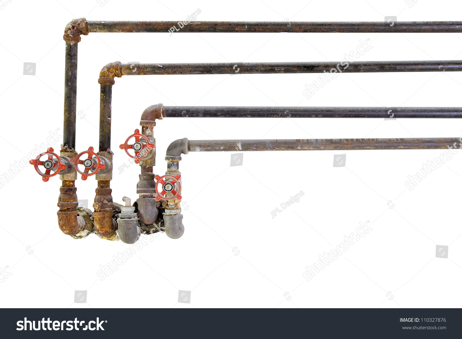 Old Heating Cooling Water Plumbing Pipes Stock Photo ...  Old Heating Coo...
