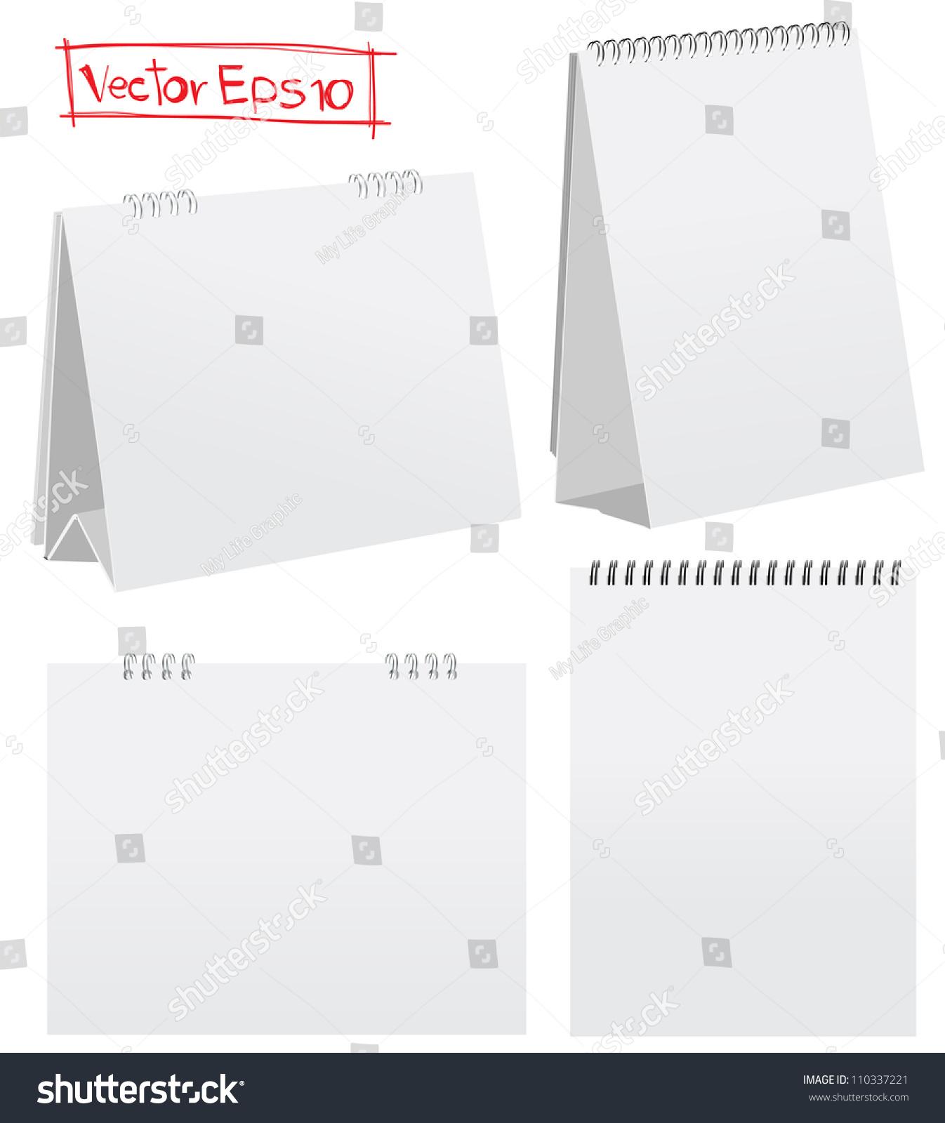 Blank Calendar Vector : Blank desktop calendars vector illustration