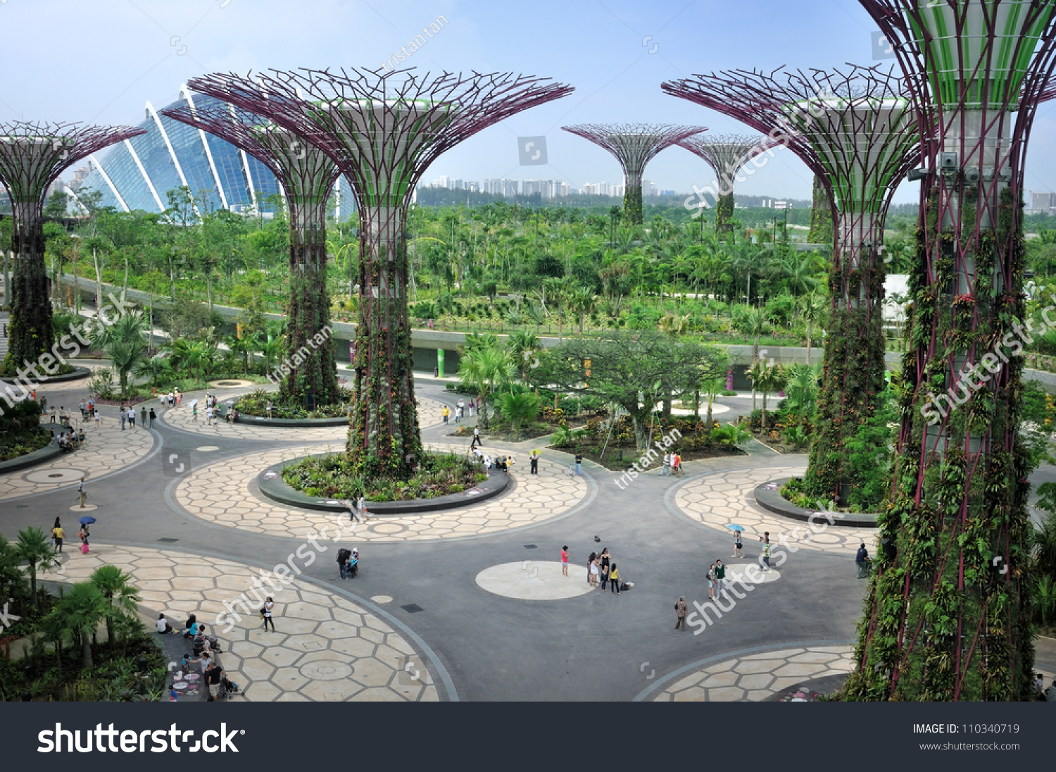 singapore aug 5 day view of the supertree grove cloud forest flower - Garden By The Bay Mrt Station