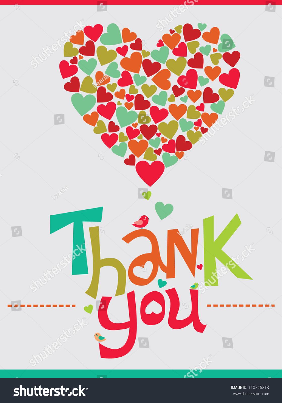 Thank You Card Design. Vector Illustration - 110346218 : Shutterstock