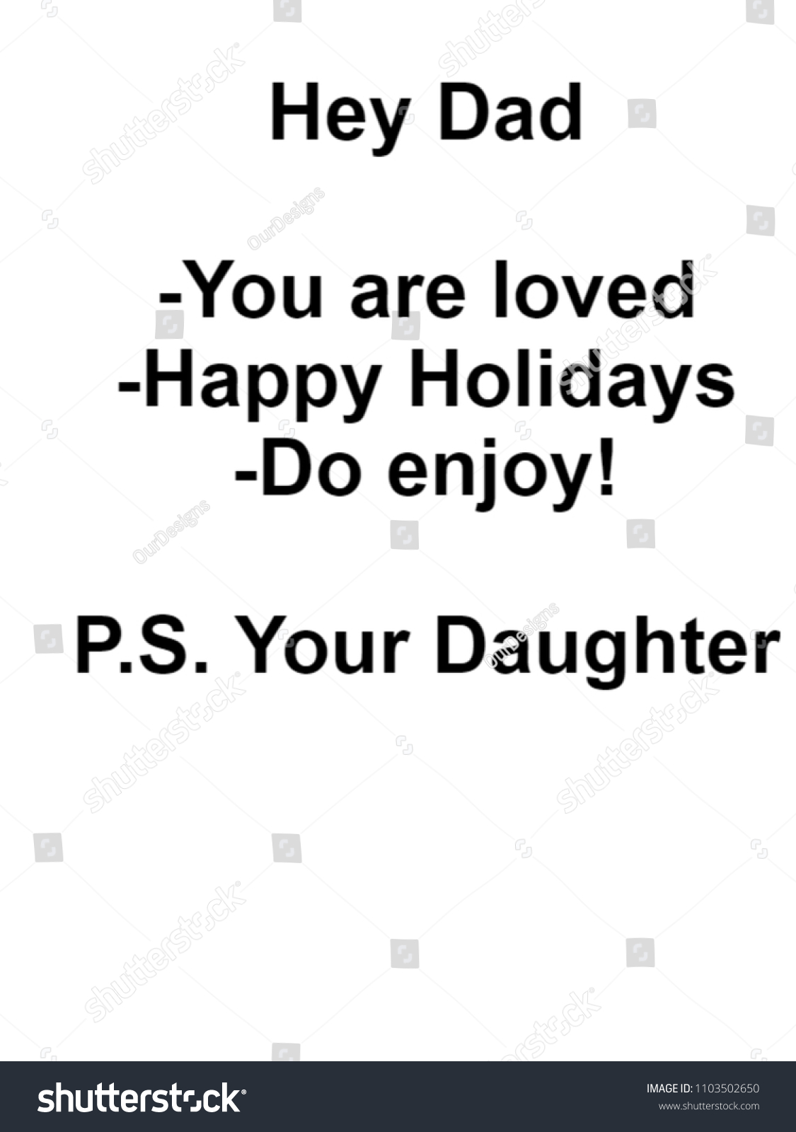 Gifts Dad Christmas Motivational Quote Him Stock Illustration ...