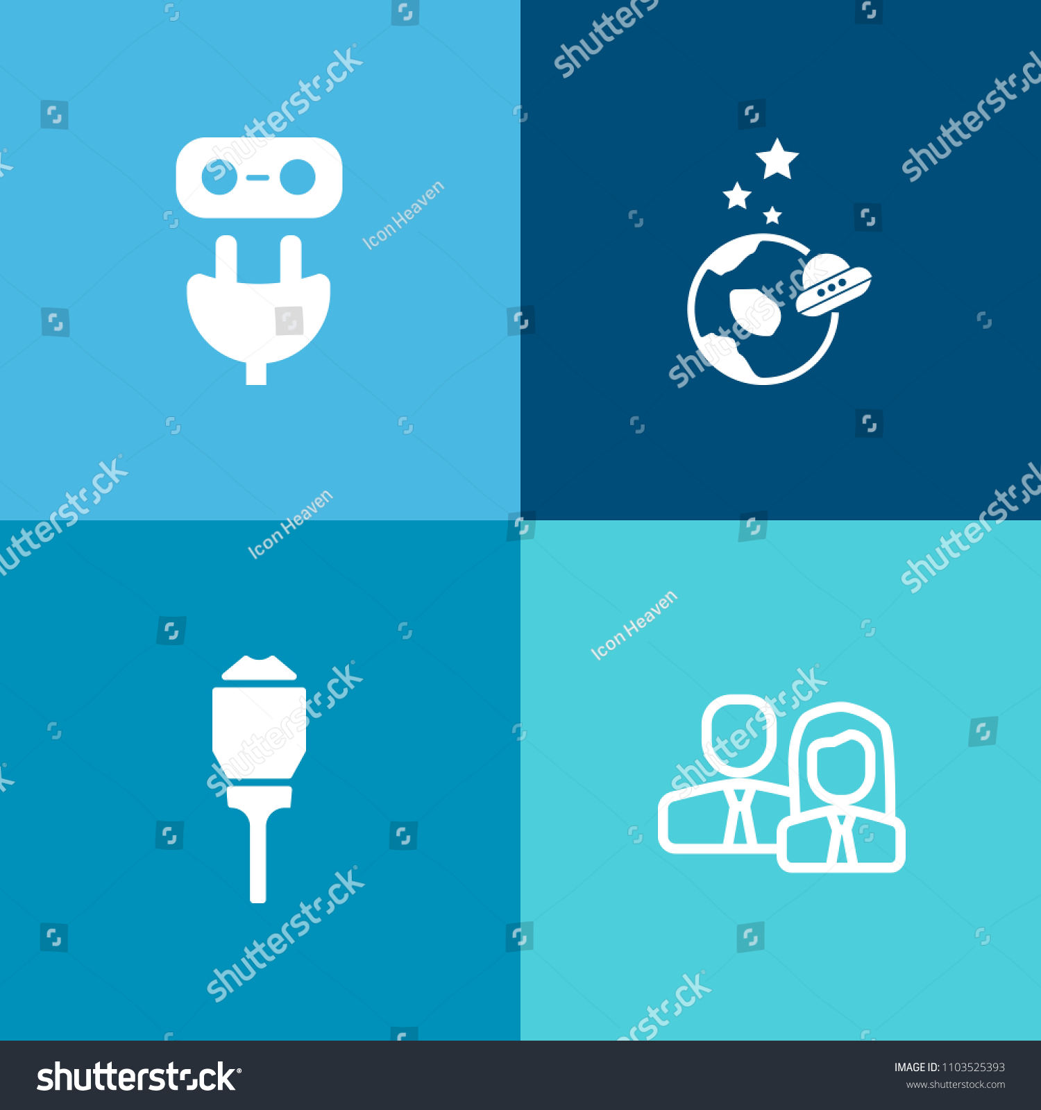 Modern Simple Vector Icon Set On Stock Royalty Free Wiring A Lamp Earth Colorful Background With Staff Exploration