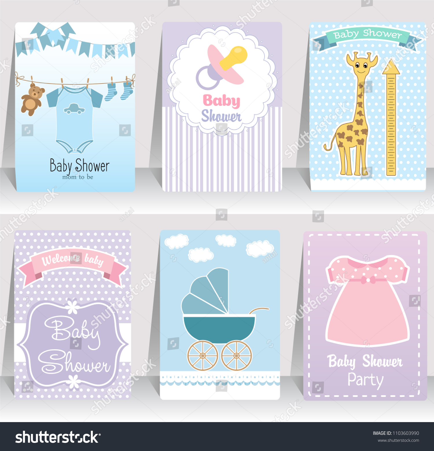 Happy Birthday, Baby Shower For Newborn Celebration Greeting And Invitation