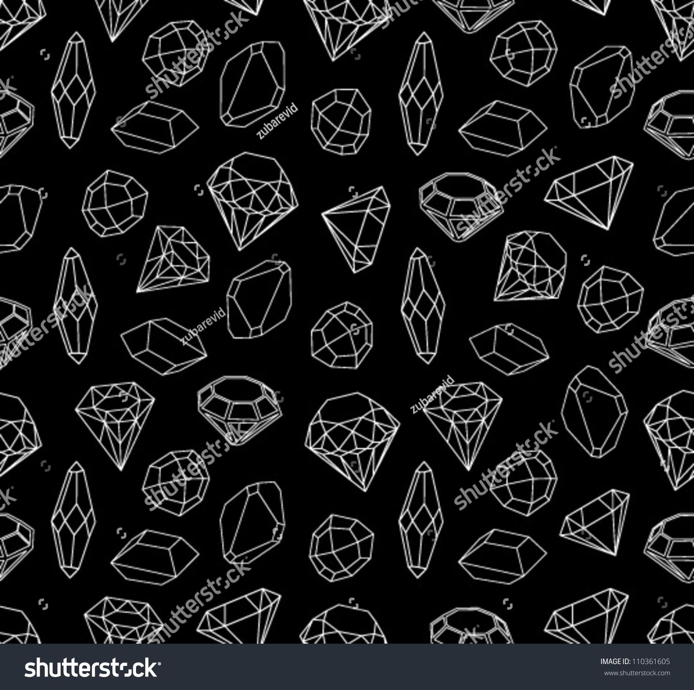 black and white diamond pattern background