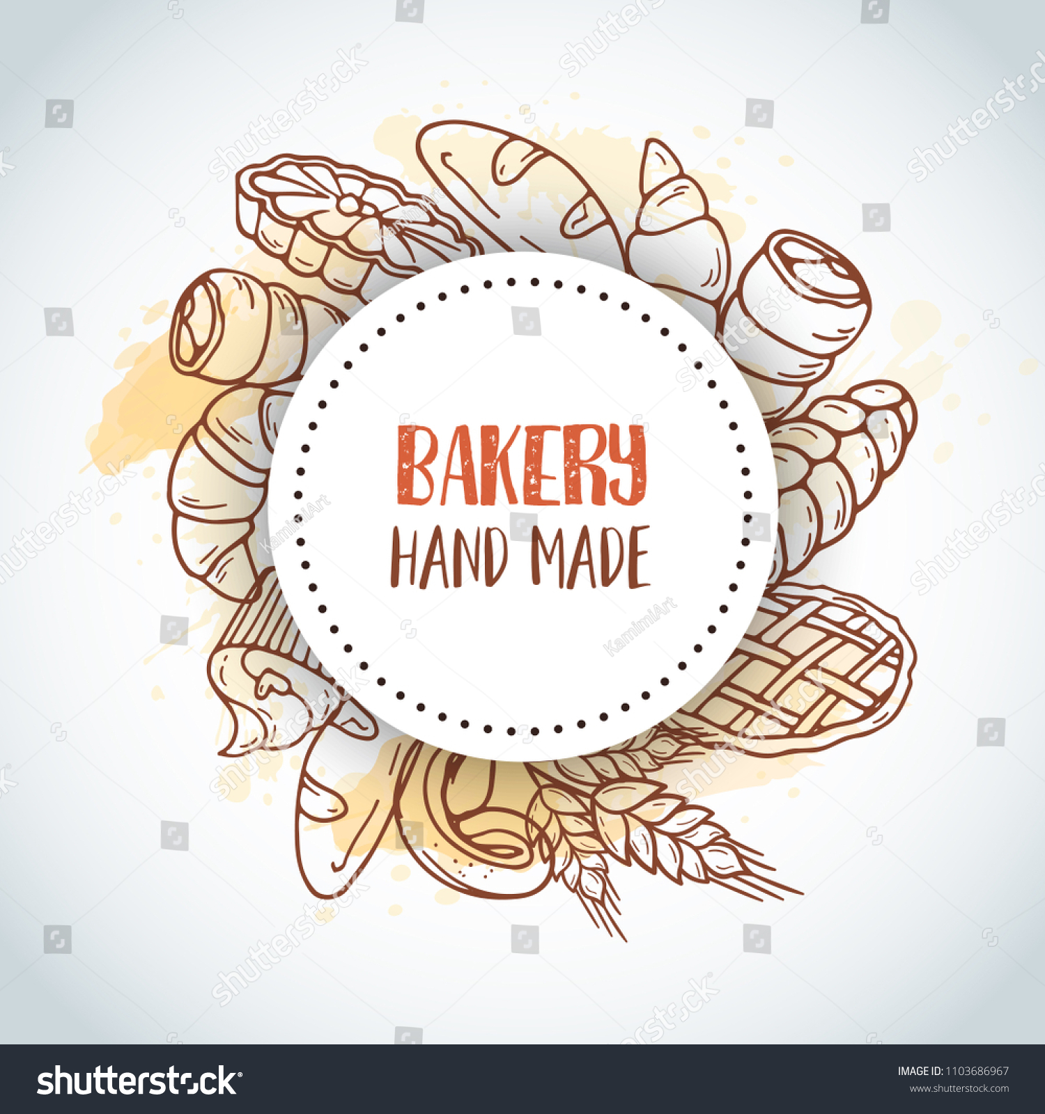 Vintage Background Sketch Bakery Pastries Sweets Stock Vector