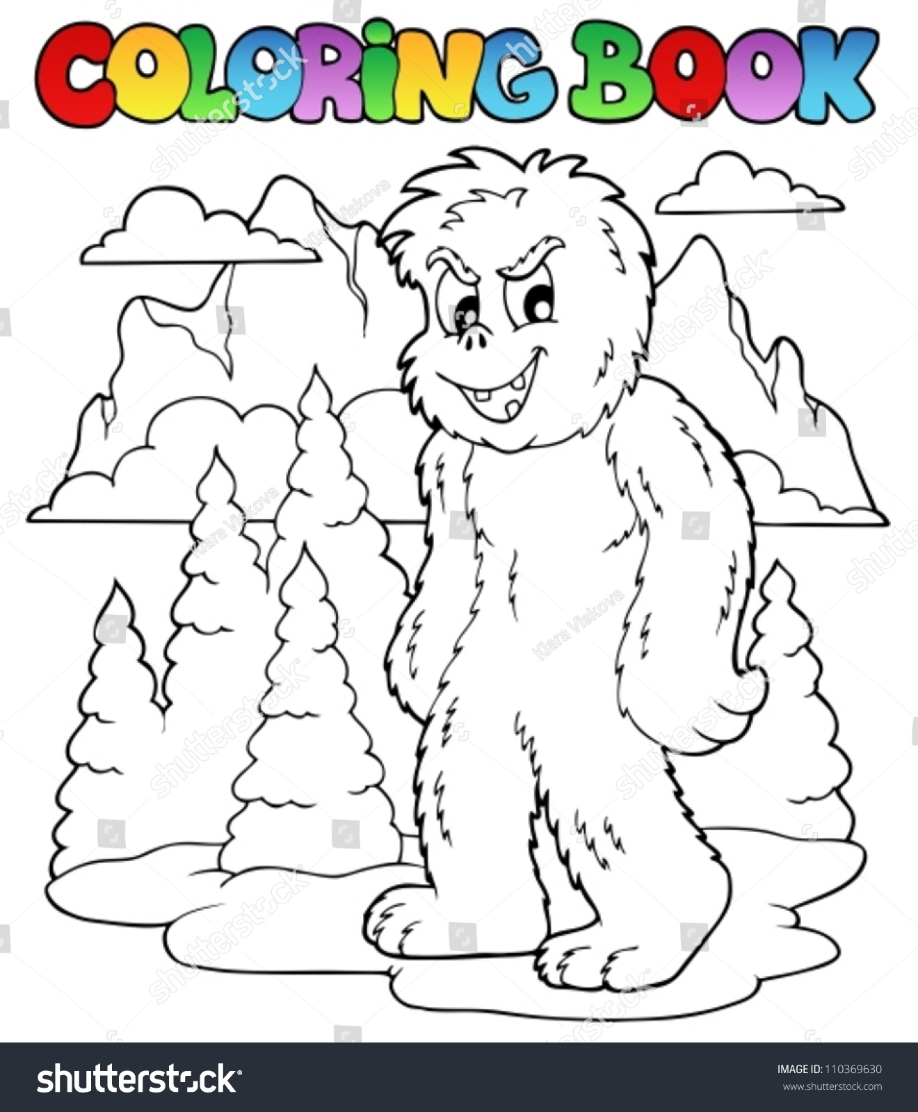 Coloring Book With Yeti 1