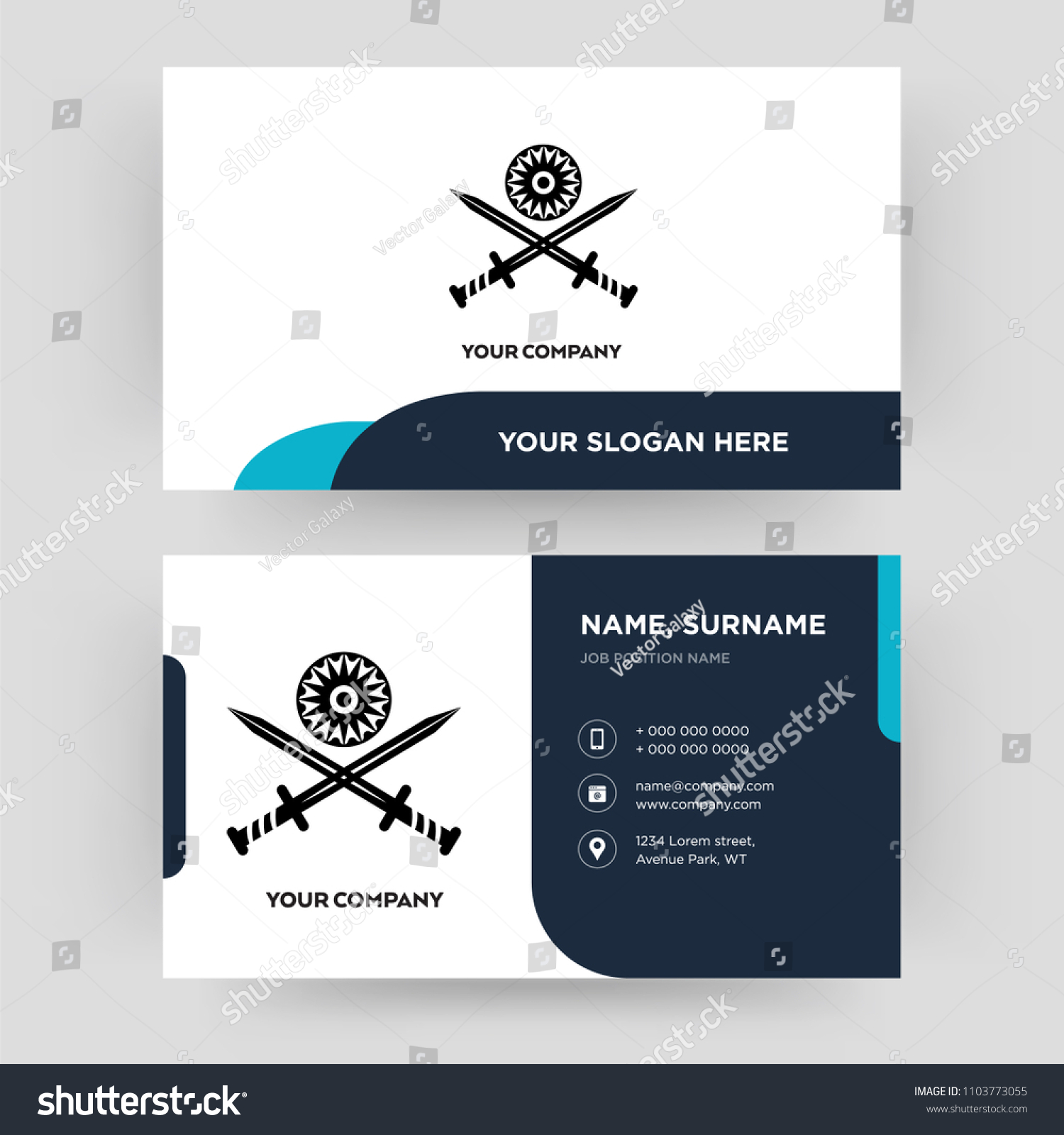 Indian Army Business Card Design Template Stock Vector 1103773055 ...