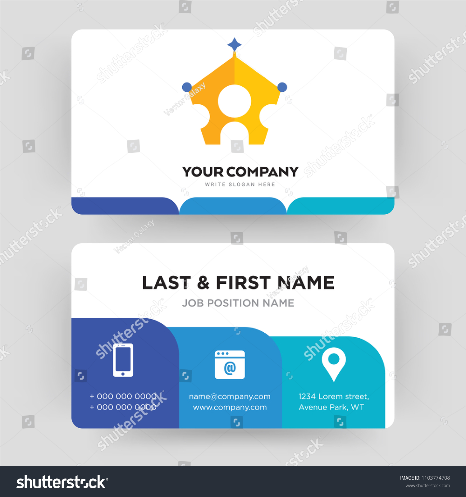 Royal Family Business Card Design Template Stock Photo (Photo ...