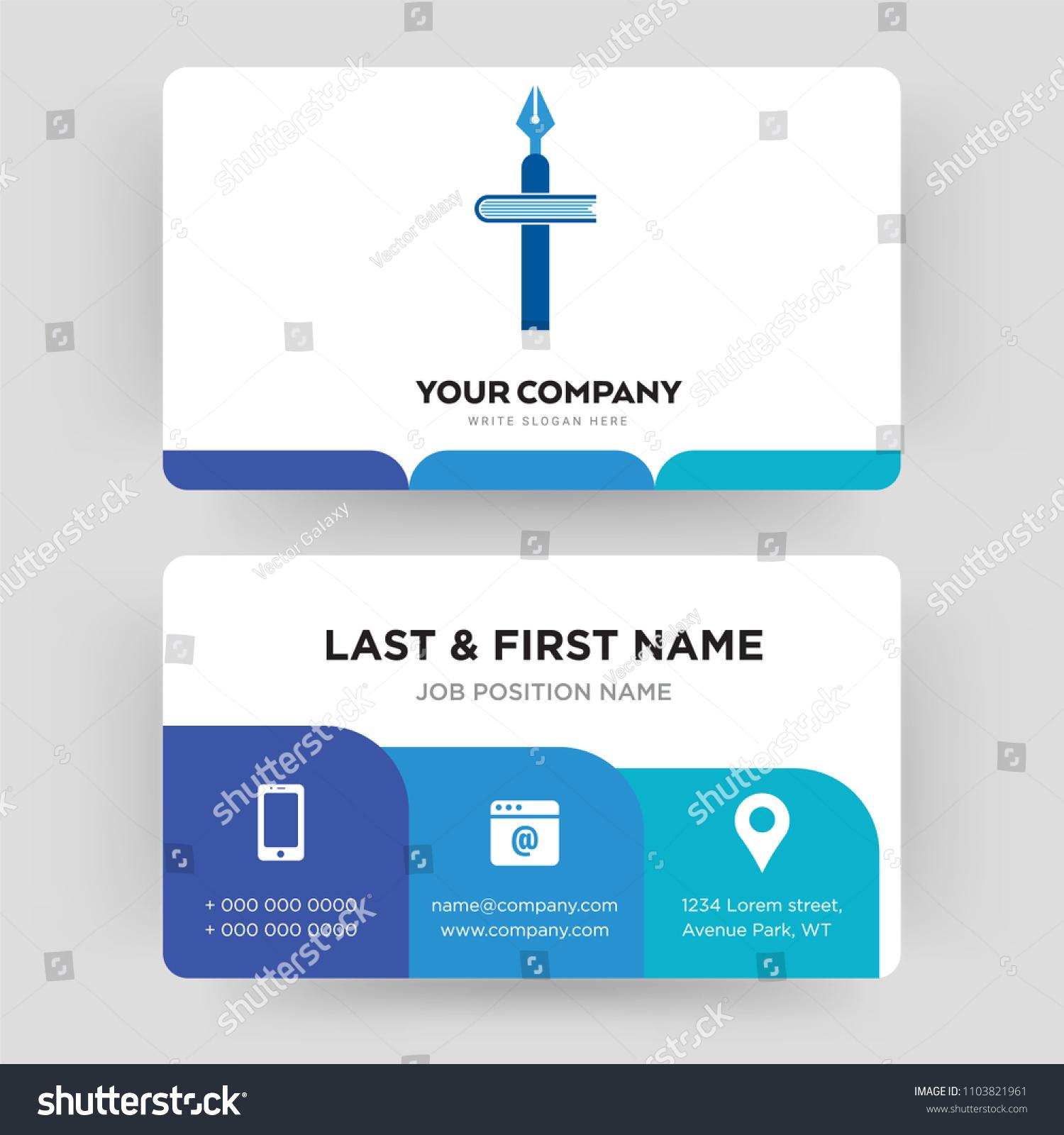 Christian School Business Card Design Template Stock Photo (Photo ...