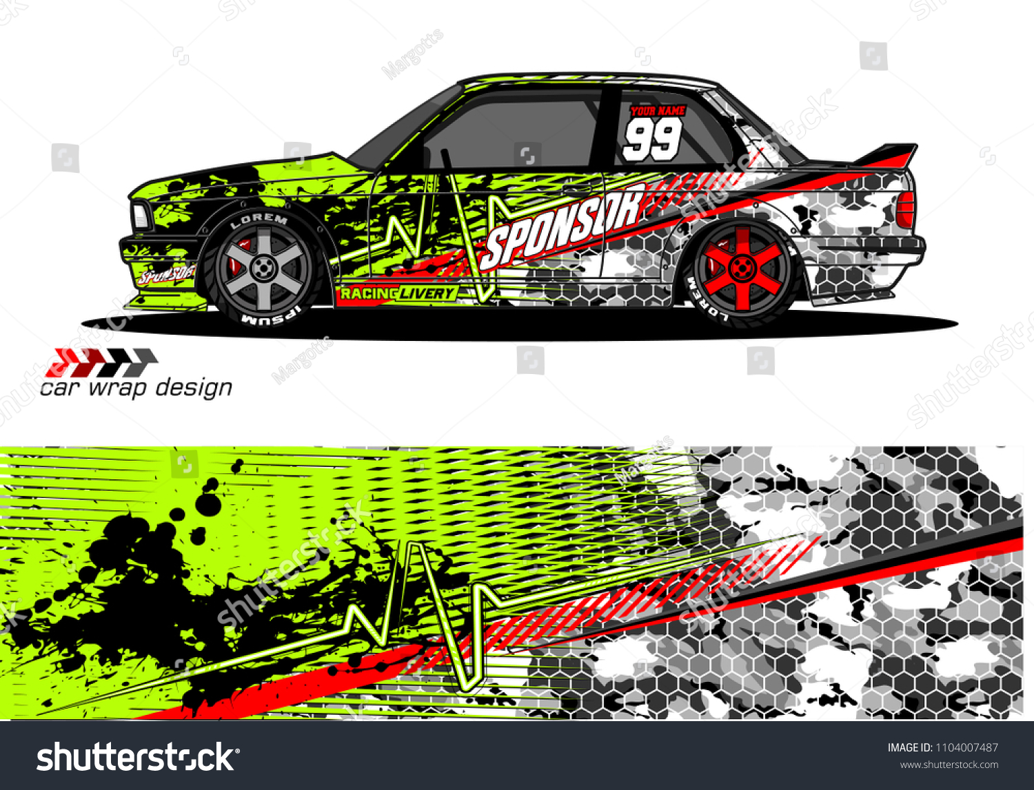 86381726d1d Race Car Livery Graphic Vector Designs Stock Vector (Royalty Free ...