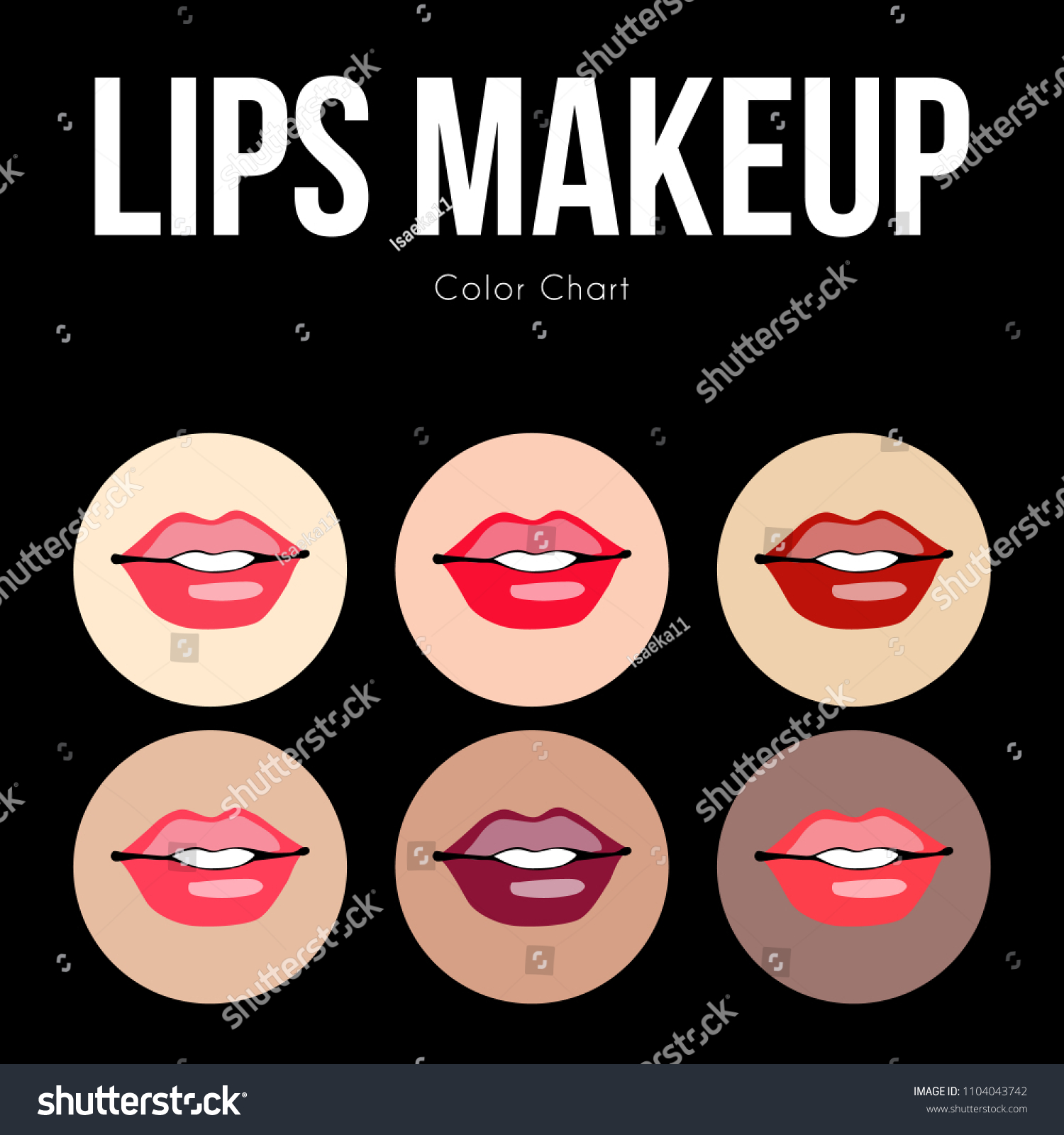 How Make Ideal Color Chart Makeup Stock Vector Royalty Free