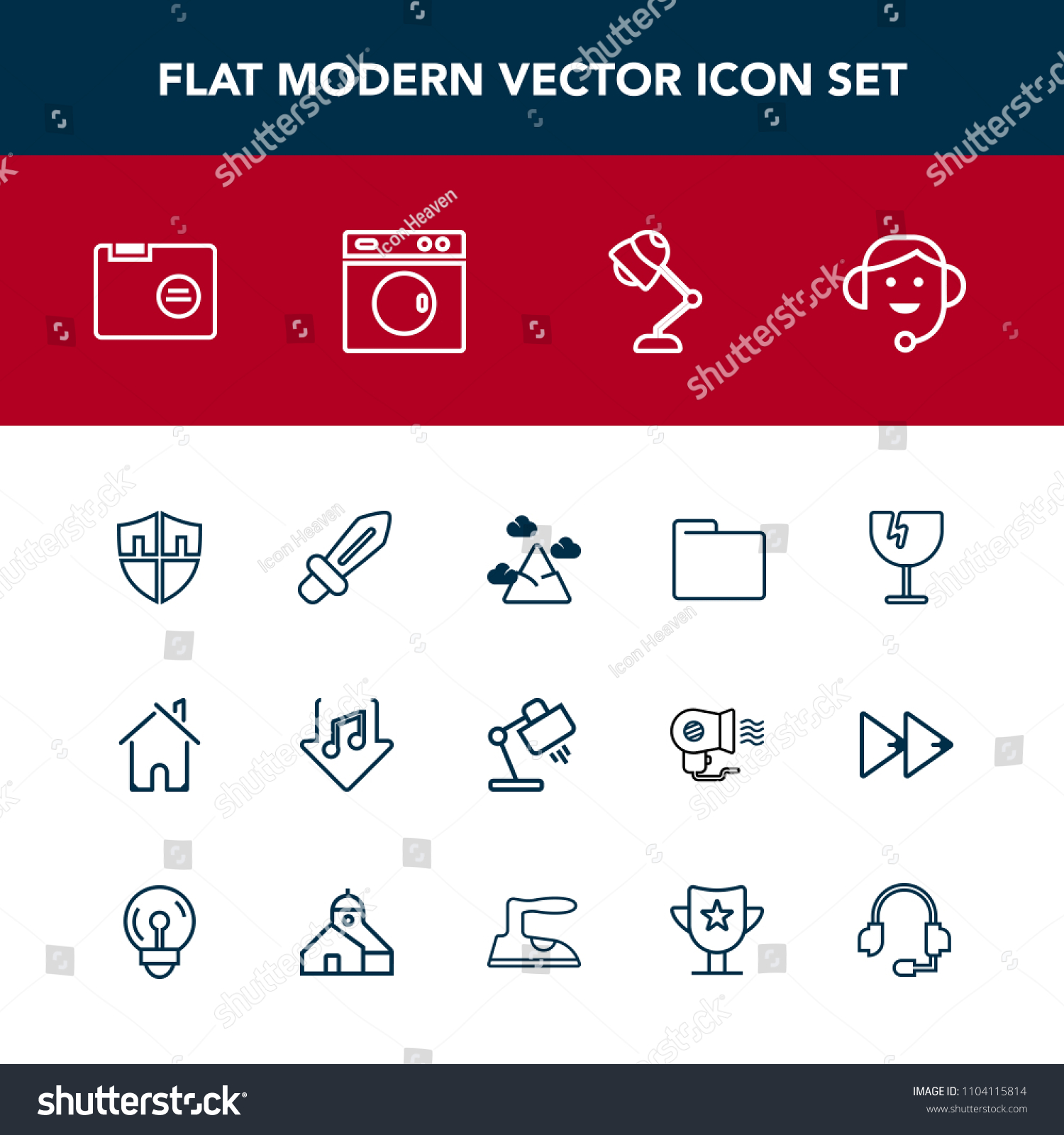 Modern Simple Vector Icon Set Sound Stock Vector HD (Royalty Free ...