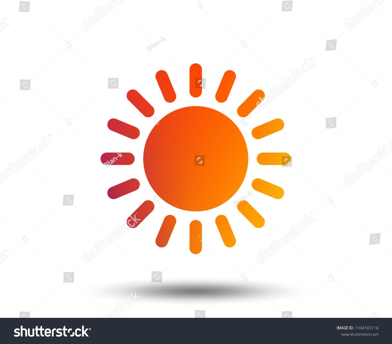 Sun Icon Sunlight Summer Symbol Hot Stock Vector 1104165116
