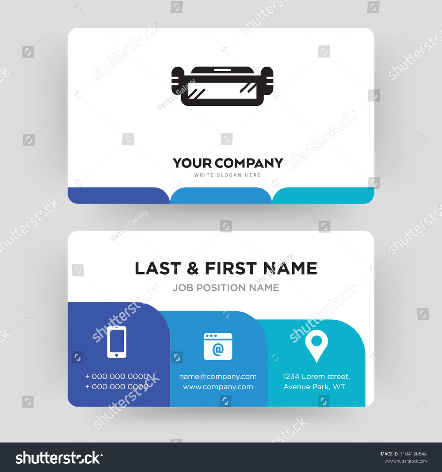 Ar Glasses Business Card Design Template Stock Vector 1104180548 ...