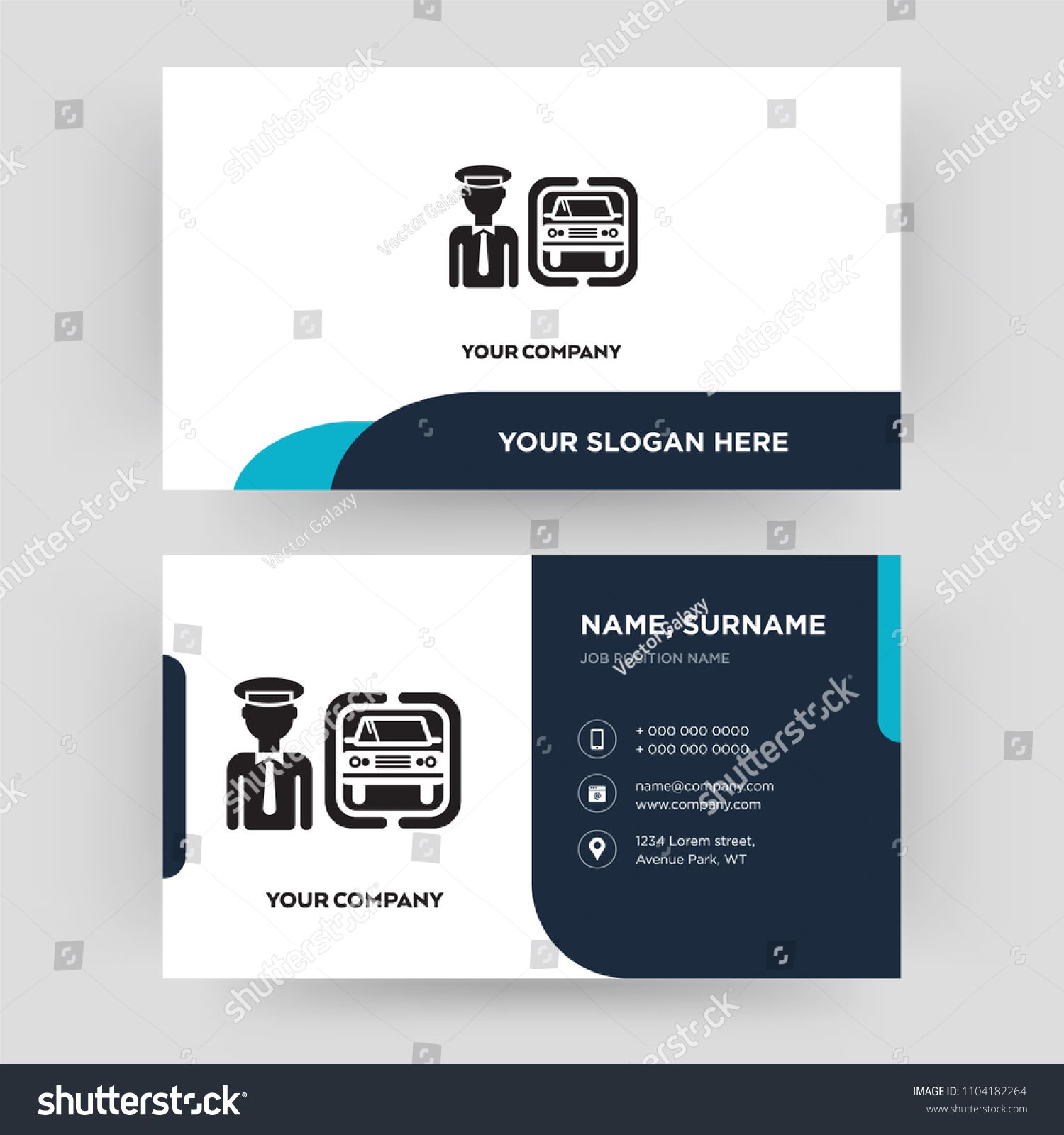 Chauffeur Business Card Design Template Visiting Stock Vector ...
