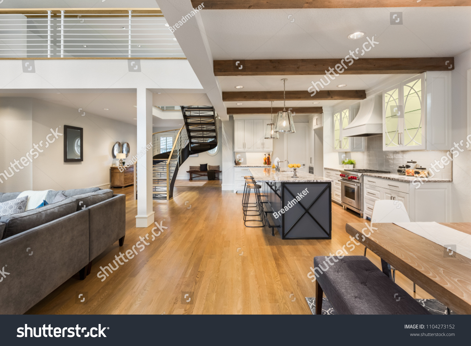 Beautiful Luxury Home Interior Open Concept Stock Photo Edit Now
