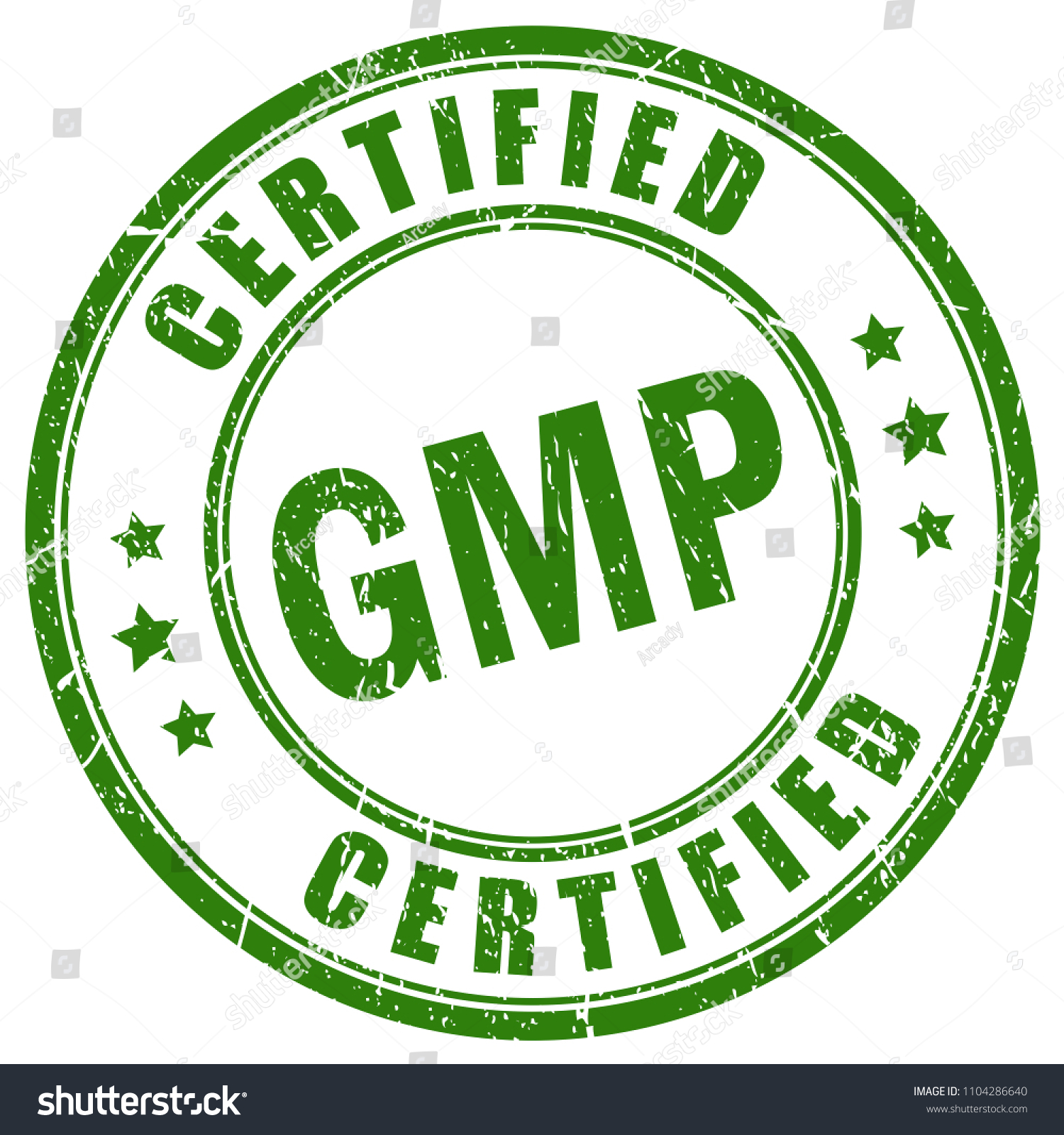 Gmp Certified Vector Stamp Isolated On Stock Vector Royalty Free