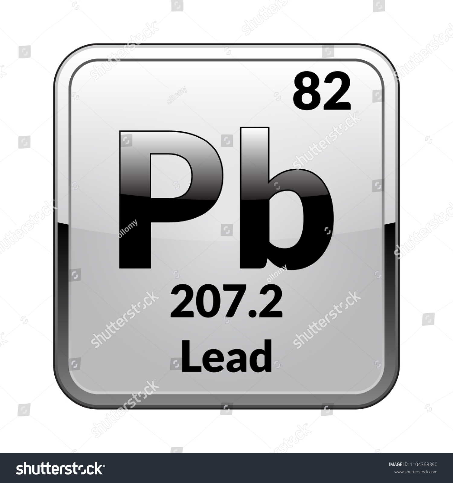 Lead Symbol Chemical Element Periodic Table On Stock Vector Royalty