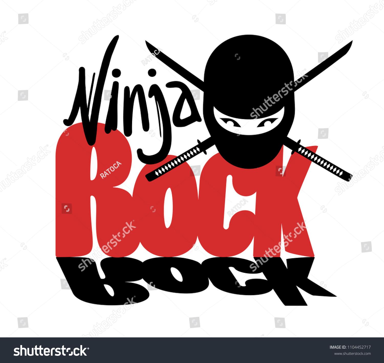 Ninja Rock Symbol Stock Vector Royalty Free 1104452717 Shutterstock