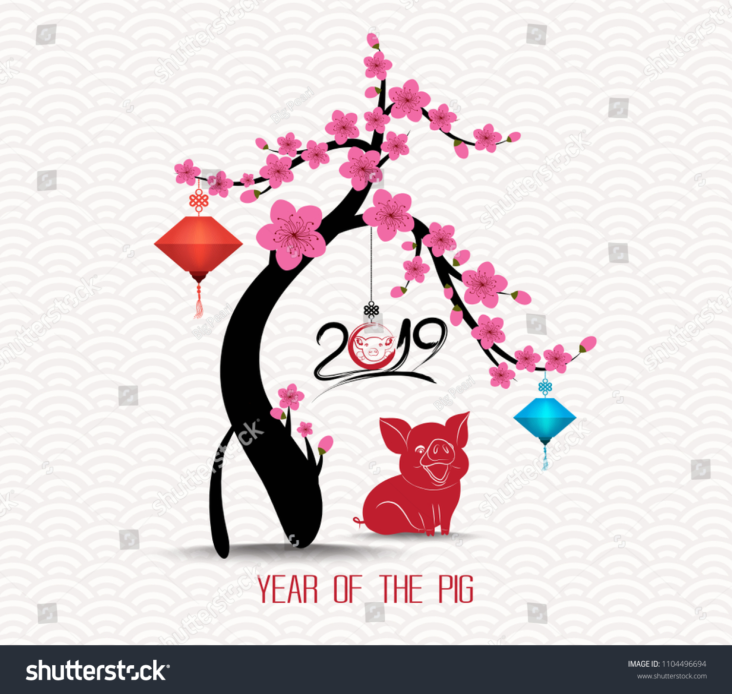 Chinese New Year Blossom Tree 2019 Background