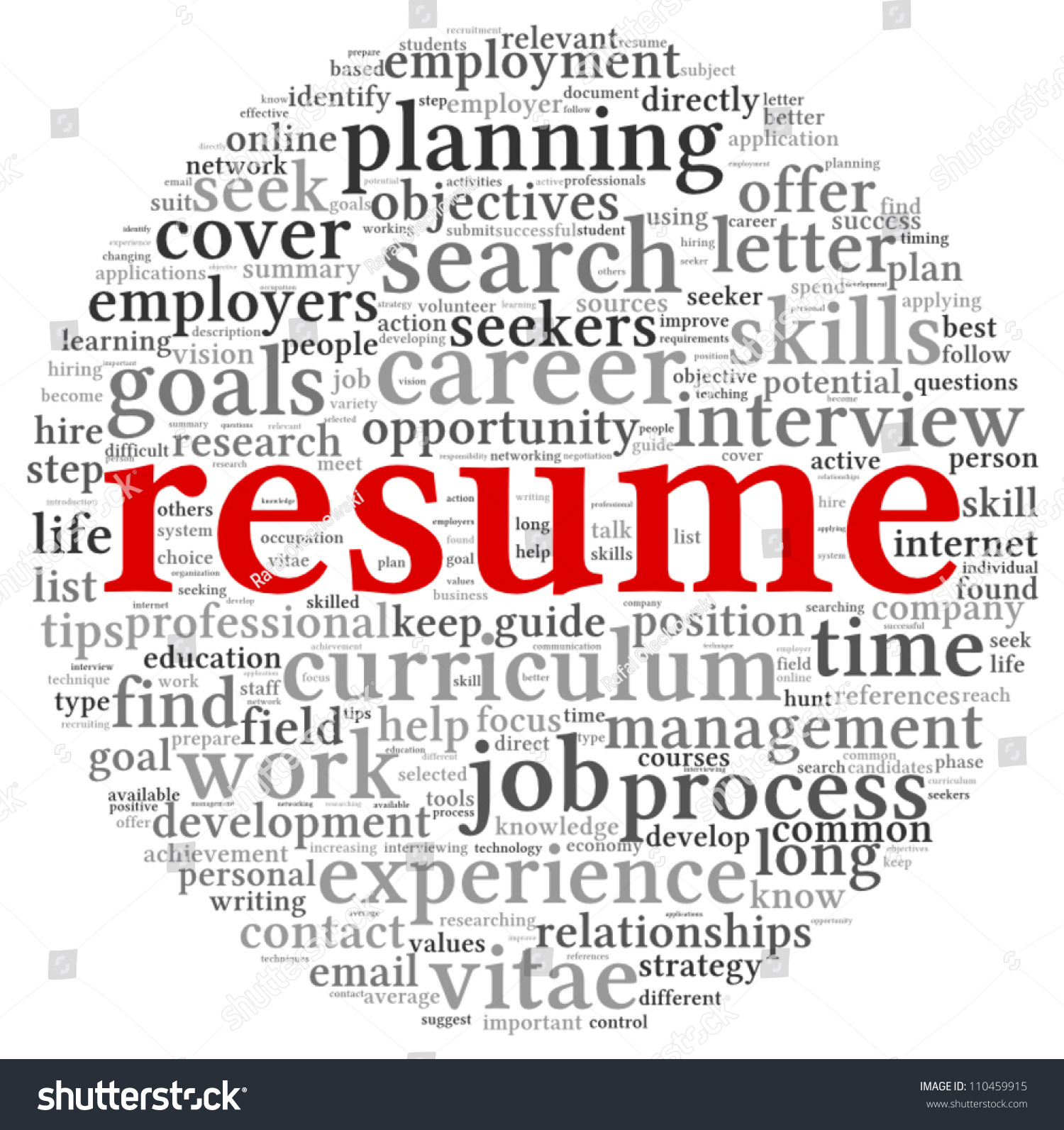 resume concept word tag cloud on stock vector shutterstock resume concept in word tag cloud on white background