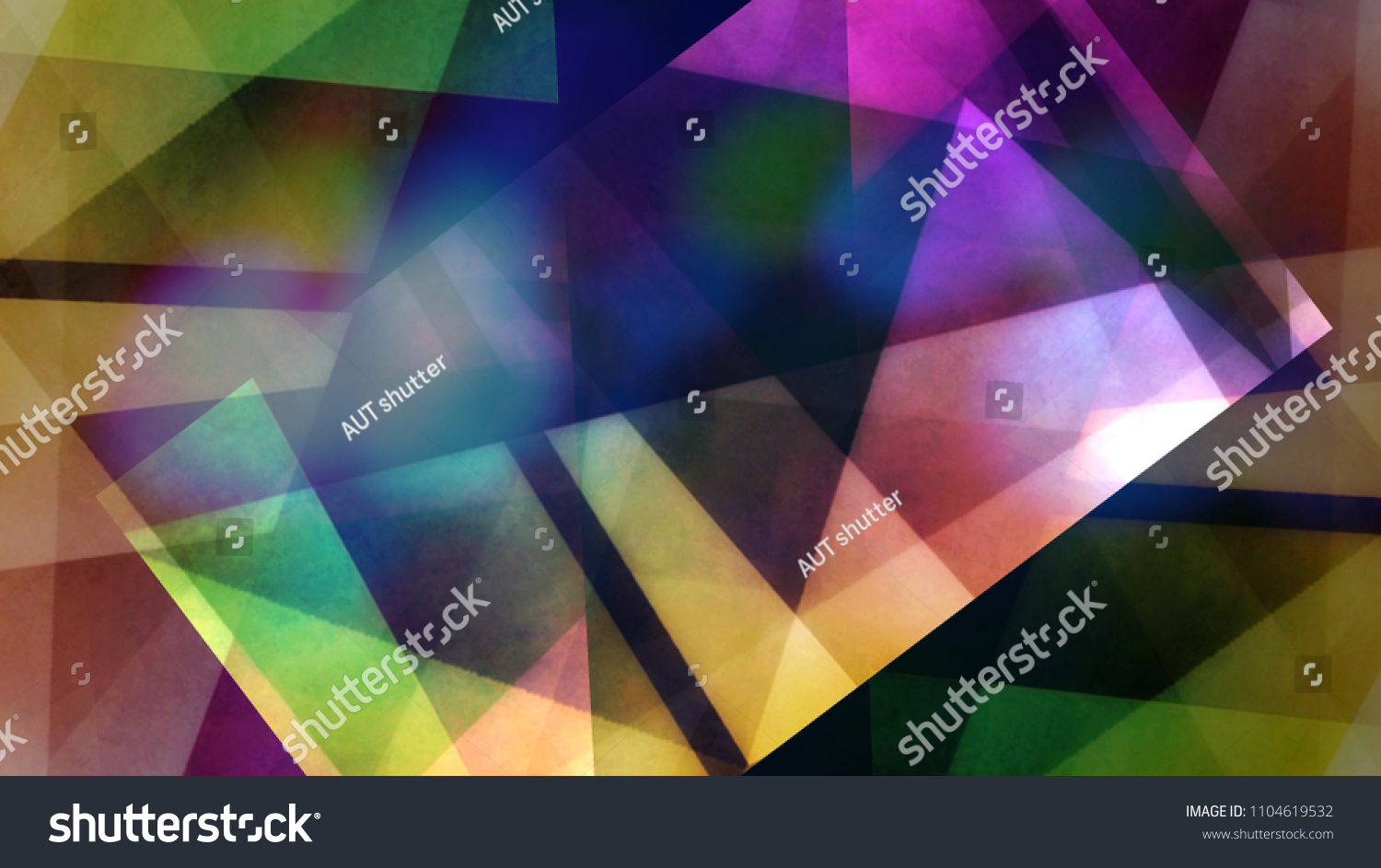 Abstract Bokeh Lights Background Crystal Pattern Style Creative