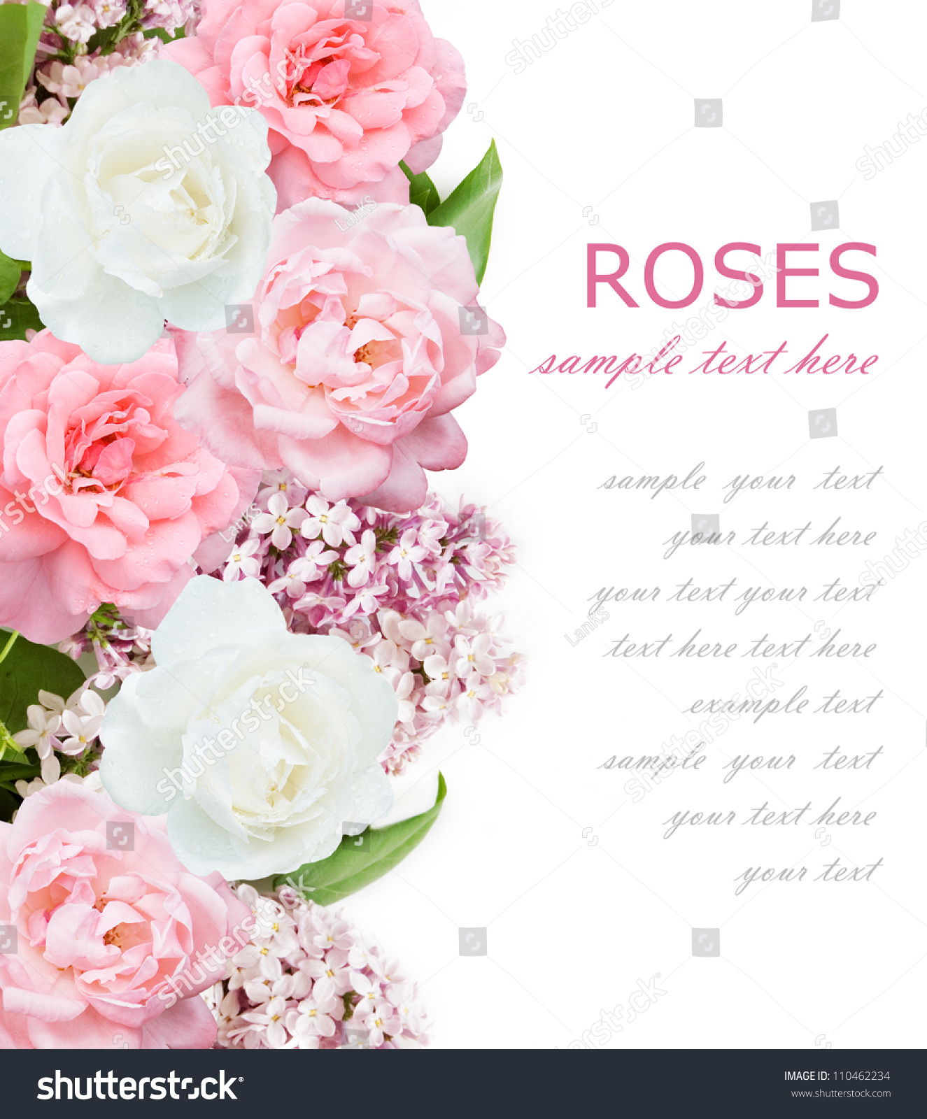 Wedding Flower Background: Wedding Background With Lilac Flowers, Pink And White