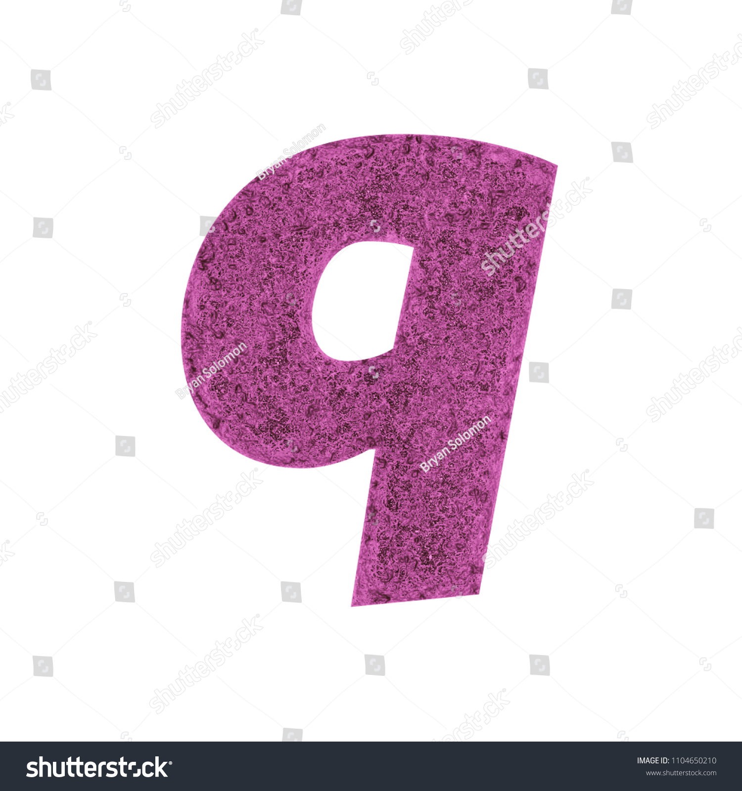 Distressed Pink Metal Letter Q Lowercase Stock Illustration ...