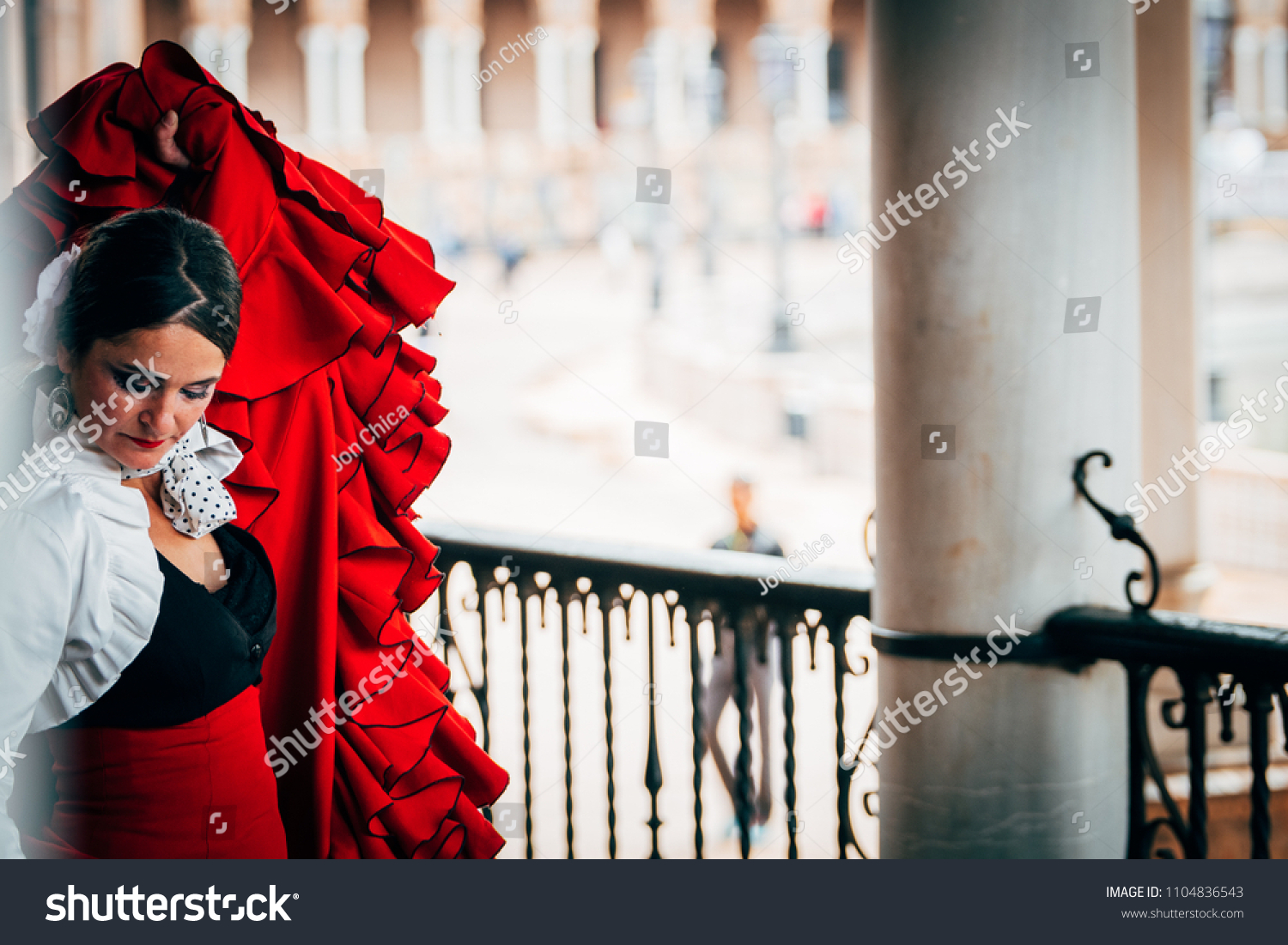 7d7d5f39f787 SEVILLE SPAIN 1st MAY 2018 Woman Stock Photo (Edit Now) 1104836543 ...