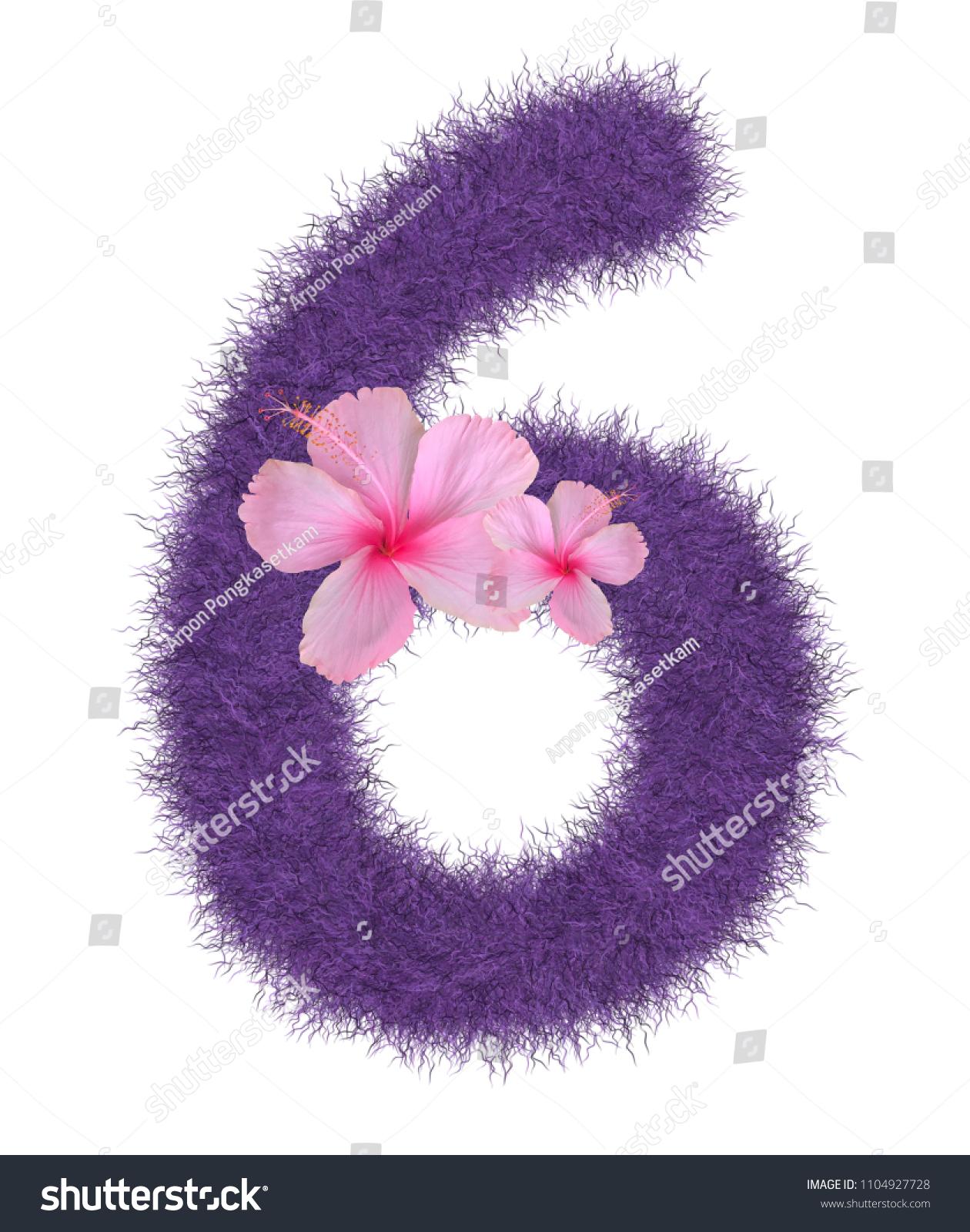 3 D Fur Animal Hair Purple Color Stock Illustration 1104927728