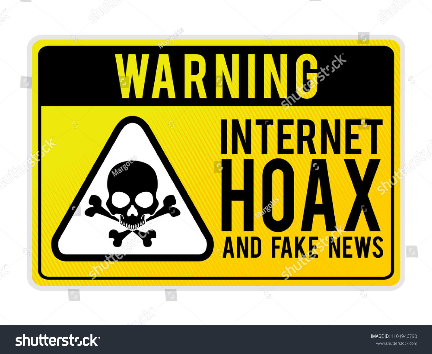 Hoax Signs Funny Stock Vector Fake Free Warning Internet 1104946790 - royalty Shutterstock