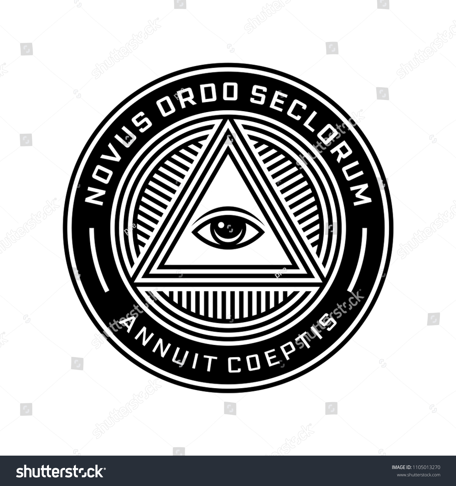 New World Order Symbol All Seeing Eye Stock Vector Royalty Free