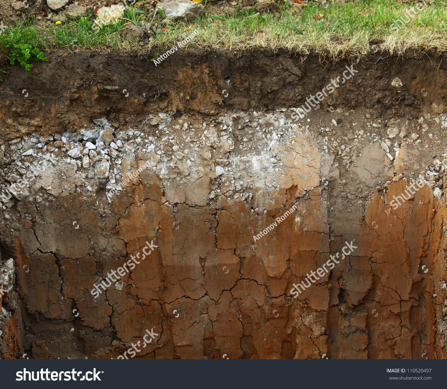 Image underground soil layers stock photo 110520497 for What are the different layers of soil