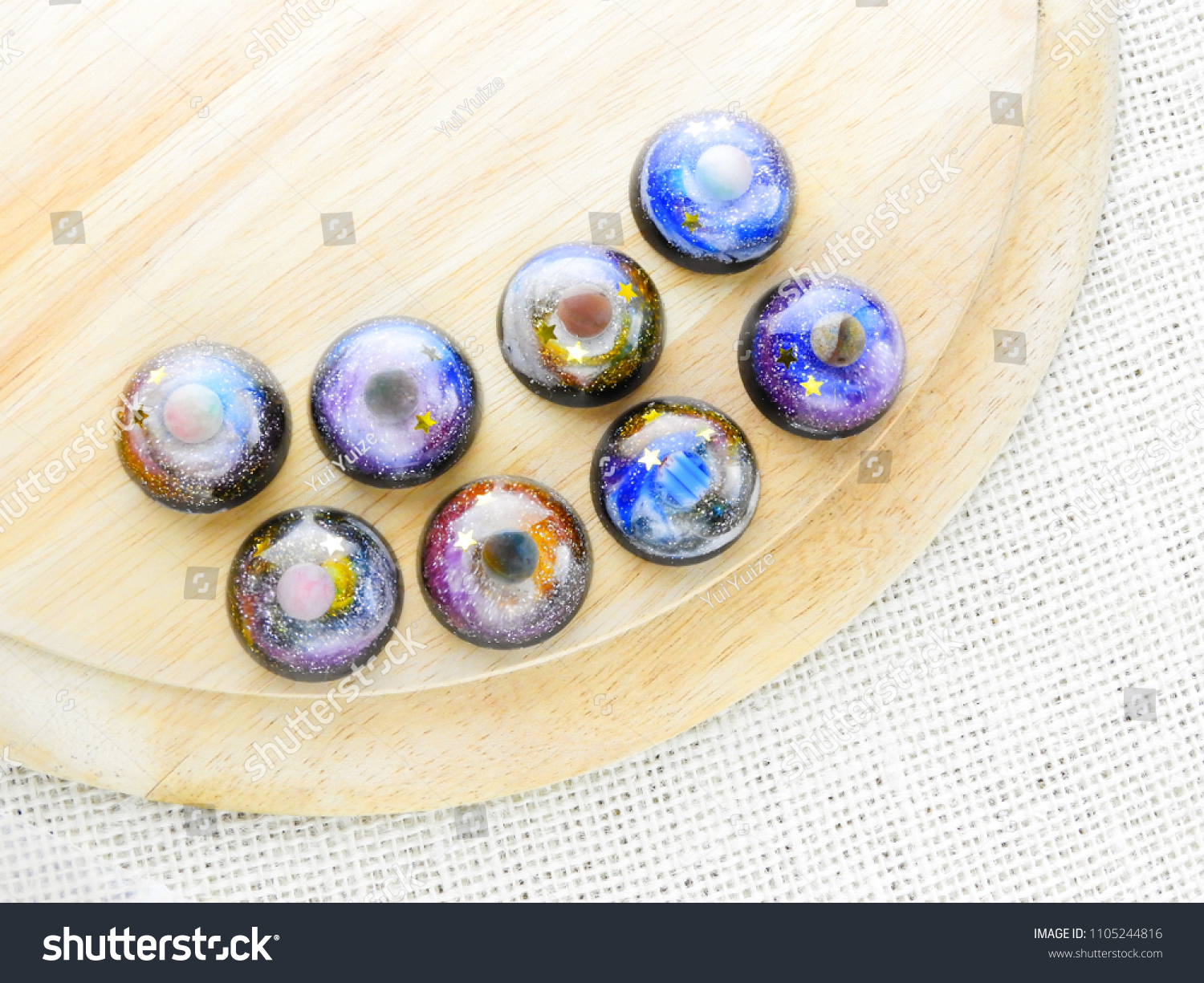 Create Galaxy Drink Coasters Using Resin Stock Photo Royalty Free - Create coasters from photos