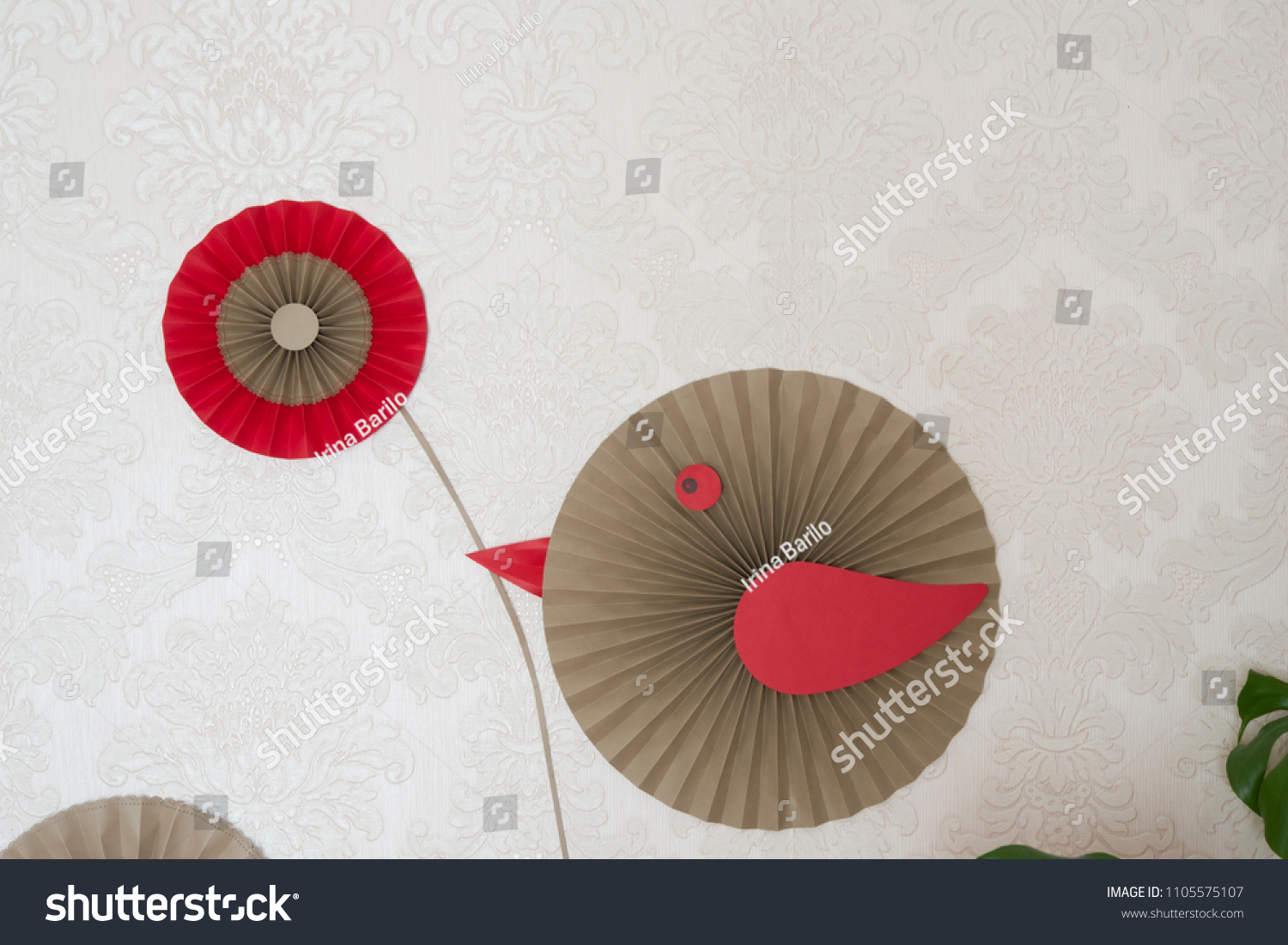 Paper Fan Tutorial Origami Flowers Simple Stock Photo Edit Now