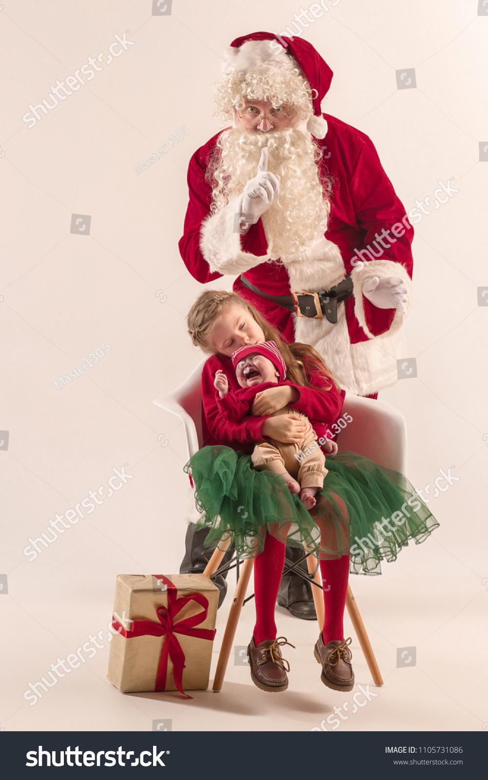 6f1dfb667fc9 Christmas Portrait Cute Little Newborn Baby Stock Photo (Edit Now ...
