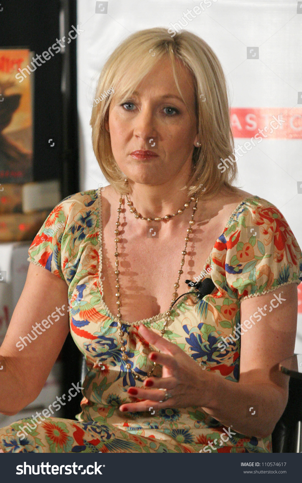 Jk Rowling Press Conference Promote Her Stock Photo Edit Now