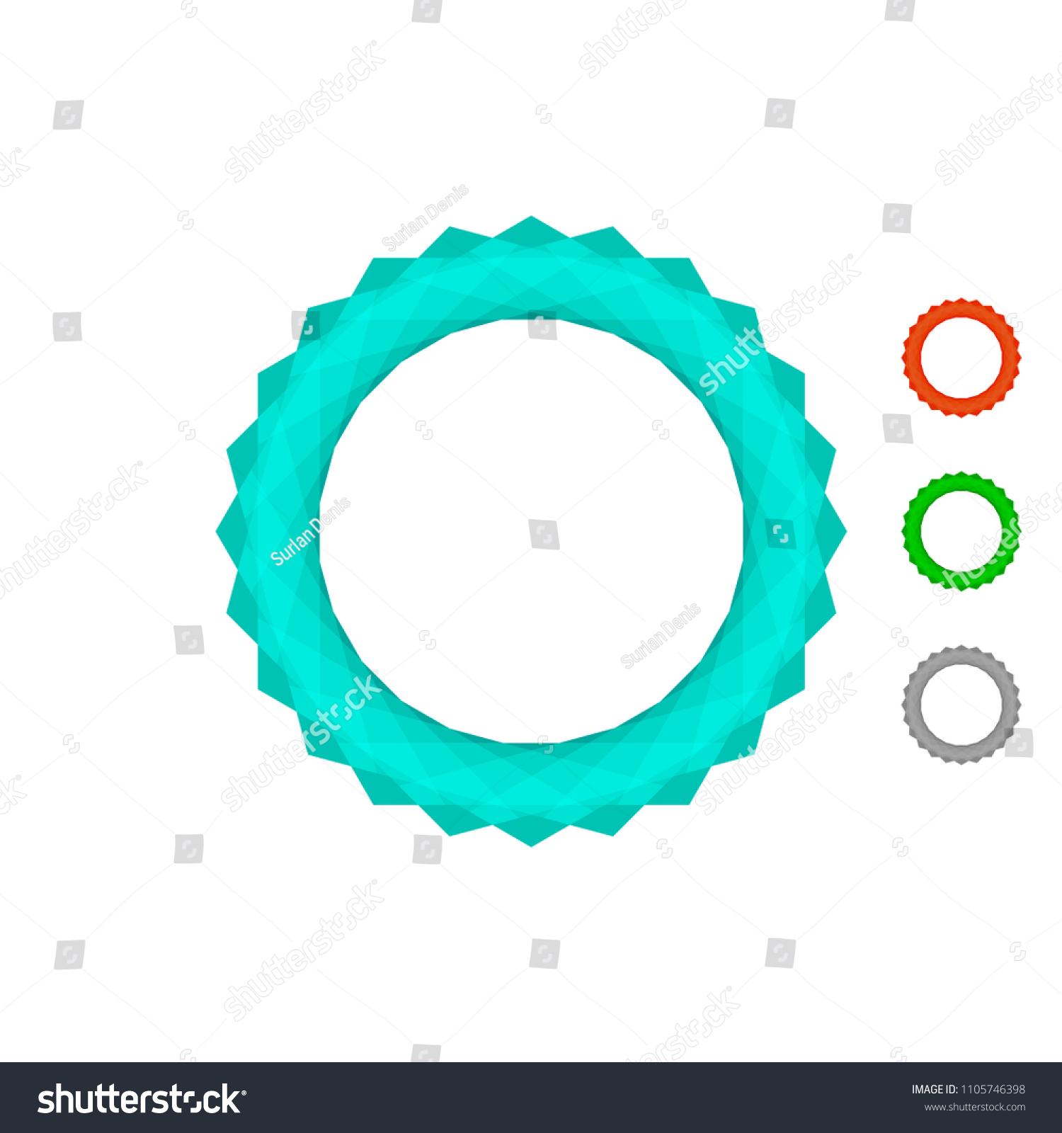 Vector Circle Round Sphere Gear Diamond Stock Vector Royalty Free