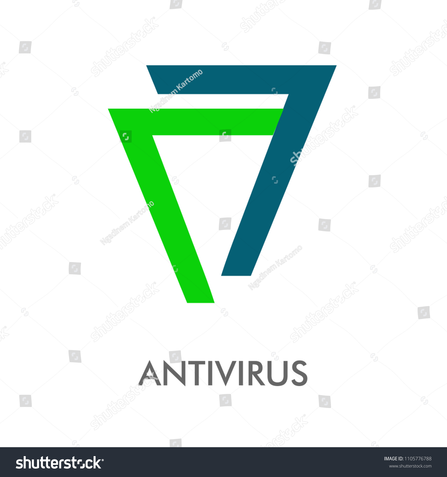 Best Antivirus Abstract Logo Vector Illustration Stock
