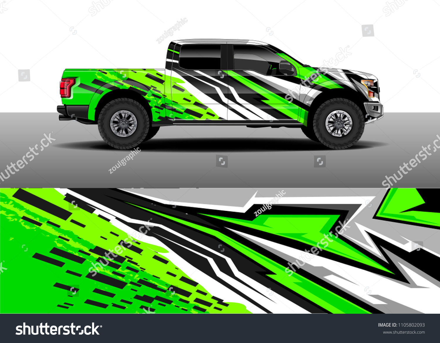 Truck decal vector graphic abstract racing designs for vehicle sticker vinyl wrap